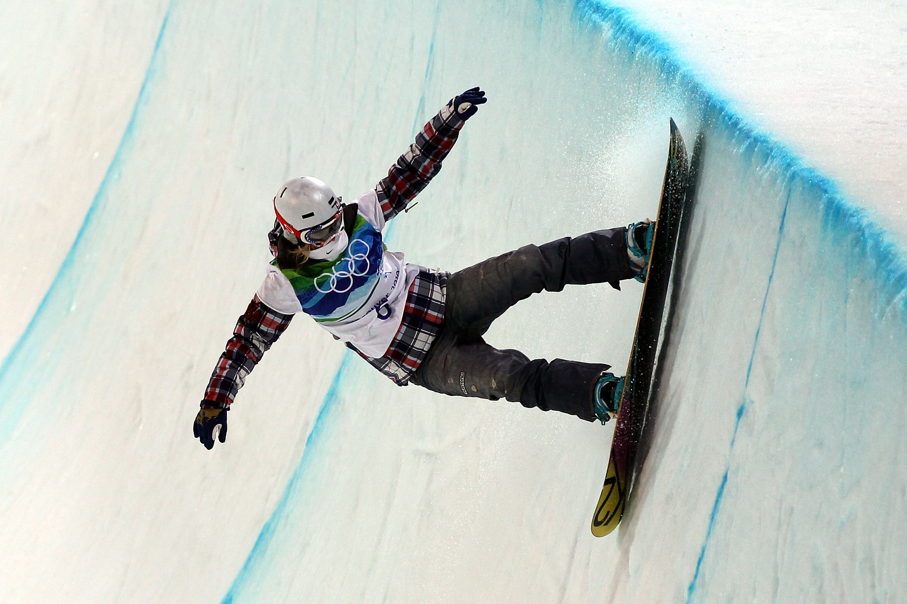 VANCOUVER, BC - FEBRUARY 18:  Gretchen Bleiler of the United States competes in the women's snowboard halfpipe final on day seven of the Vancouver 2010 Winter Olympics at Cypress Snowboard & Ski-Cross Stadium on February 18, 2010 in Vancouver, Canada.  (P