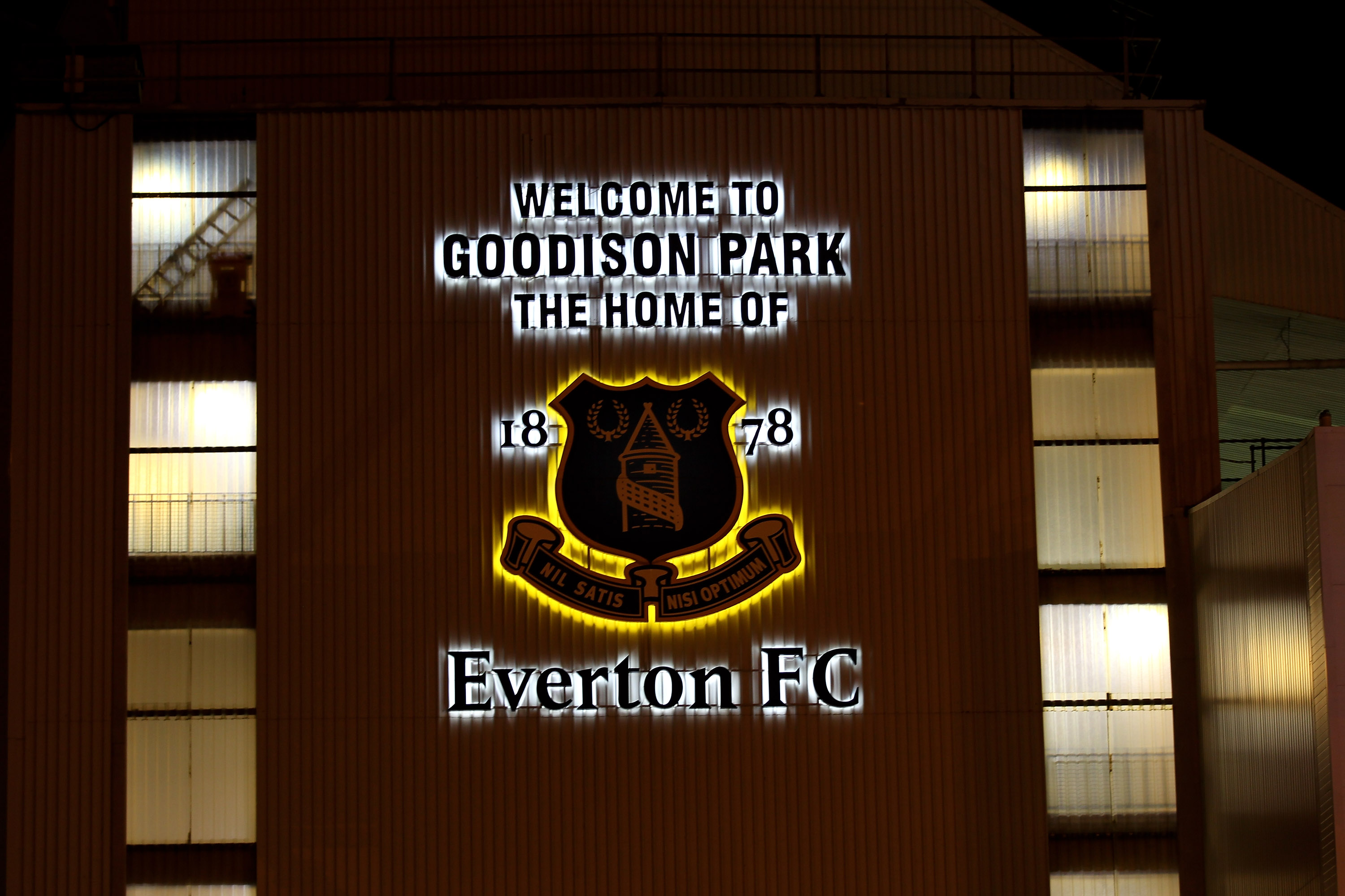 LIVERPOOL, ENGLAND - JANUARY 05:  General View of the Everton Club Crest prior to the Barclays Premier League match between Everton and Tottenham Hotspur at Goodison Park on January 5, 2011 in Liverpool, England.  (Photo by Alex Livesey/Getty Images)