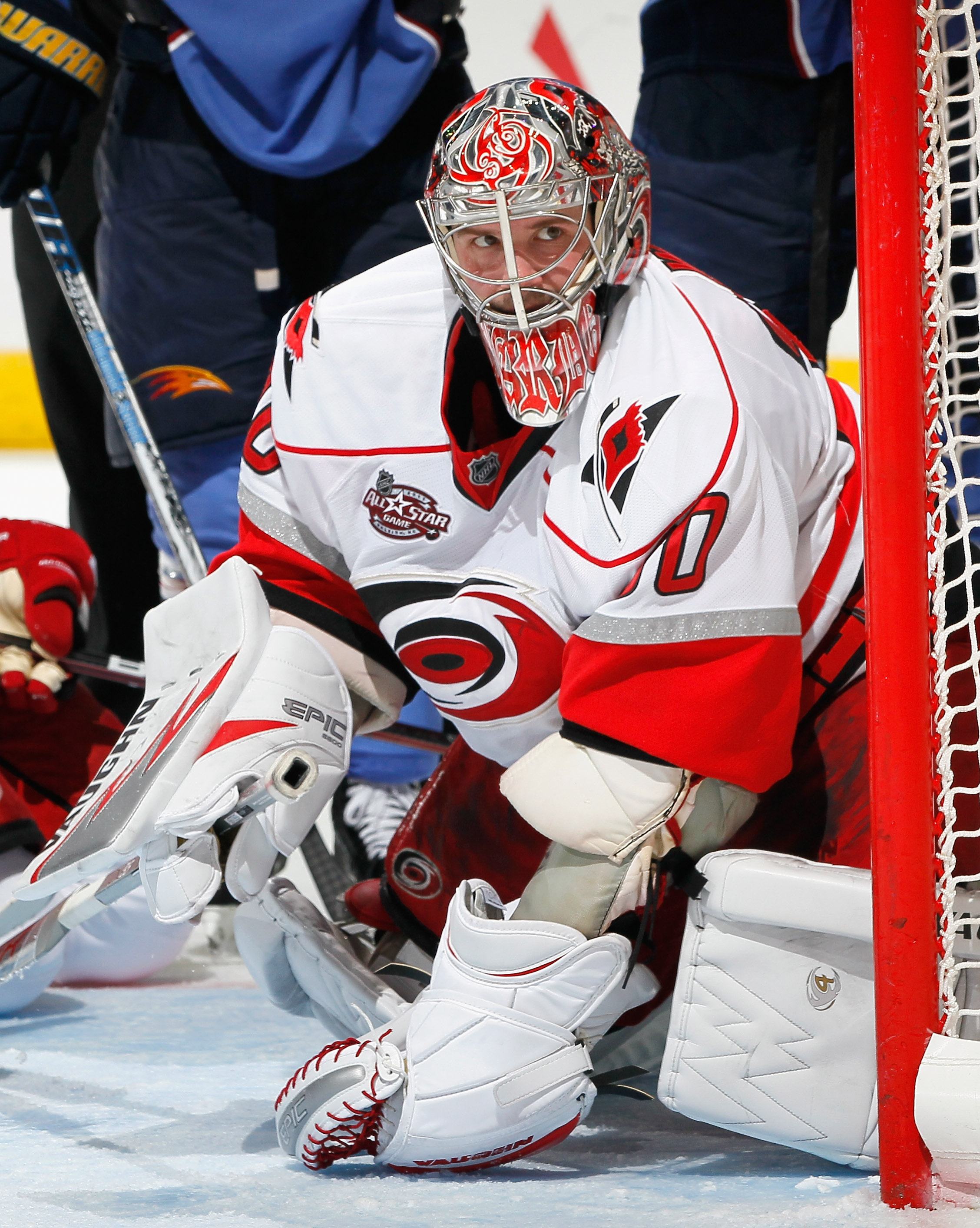 ATLANTA, GA - DECEMBER 16:  Goaltender Cam Ward #30 of the Carolina Hurricanes against the Atlanta Thrashers at Philips Arena on December 16, 2010 in Atlanta, Georgia.  (Photo by Kevin C. Cox/Getty Images)