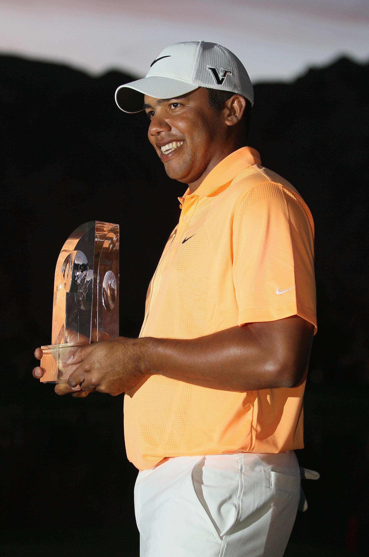 Jhonattan Vegas after winning the Sony Open in Hawaii