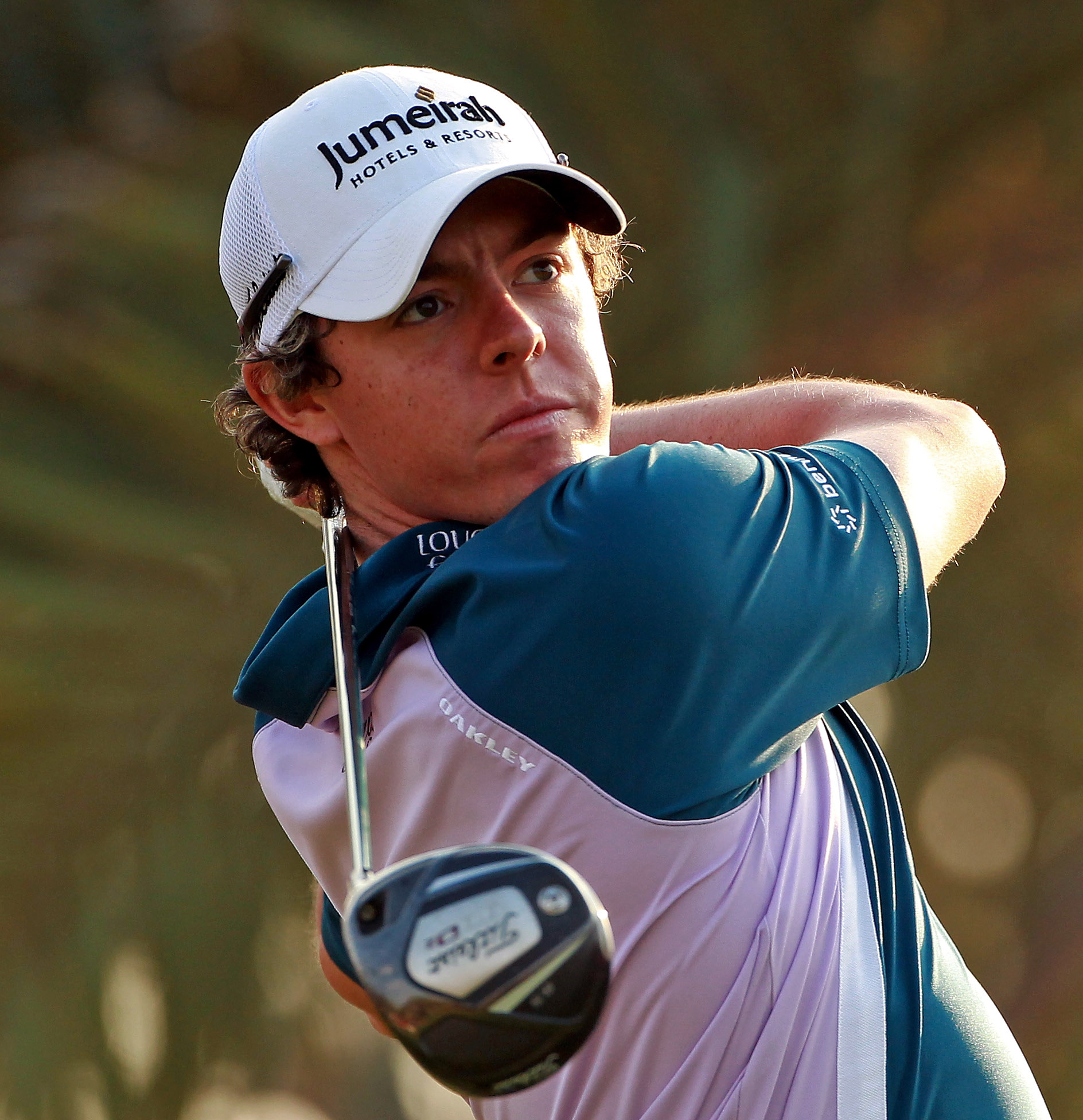 ABU DHABI, UNITED ARAB EMIRATES - JANUARY 23:  Rory McIlroy of Northern Ireland in action during the final round of The Abu Dhabi HSBC Golf Championship at Abu Dhabi Golf Club on January 23, 2011 in Abu Dhabi, United Arab Emirates.  (Photo by Andrew Redin