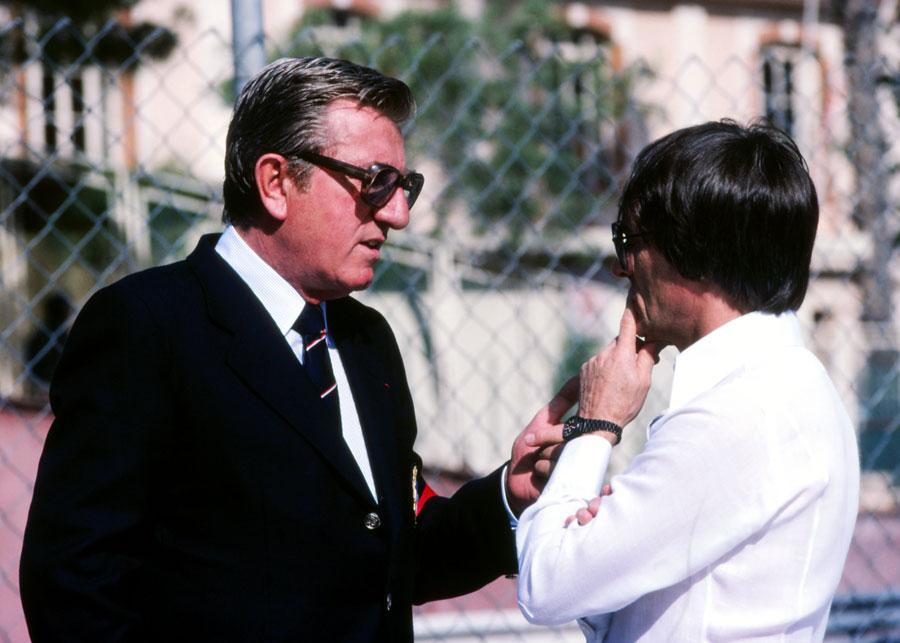 Bernie with FISA president Jean-Marie Balestre