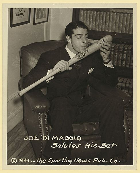 Joe DiMaggio / Photo: Sporting News, Wikimedia Commons