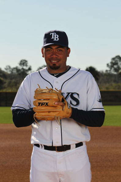 PORT CHARLOTTE, FL - FEBRUARY 26:  Joaquin Benoit #53 of the Tampa Bay Rays poses for a photo during Spring Training Media Photo Day at Charlotte County Sports Park on February 26, 2010 in Port Charlotte, Florida.  (Photo by Nick Laham/Getty Images)