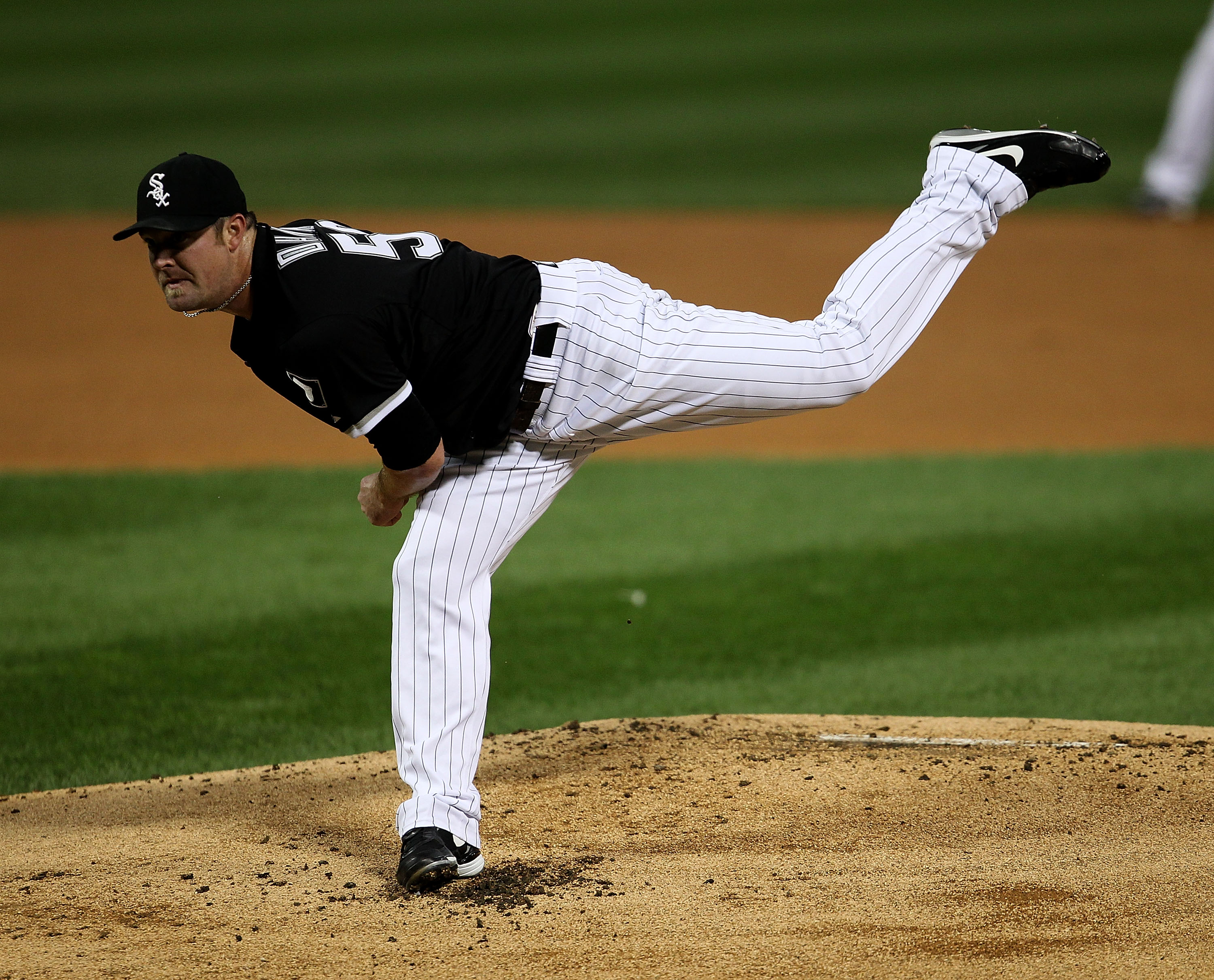 CHICAGO - SEPTEMBER 14: Starting pitcher John Danks #50 of the Chicago White Sox follows through after delivering the ball against of the Minnesota Twins at U.S. Cellular Field on September 14, 2010 in Chicago, Illinois. (Photo by Jonathan Daniel/Getty Im