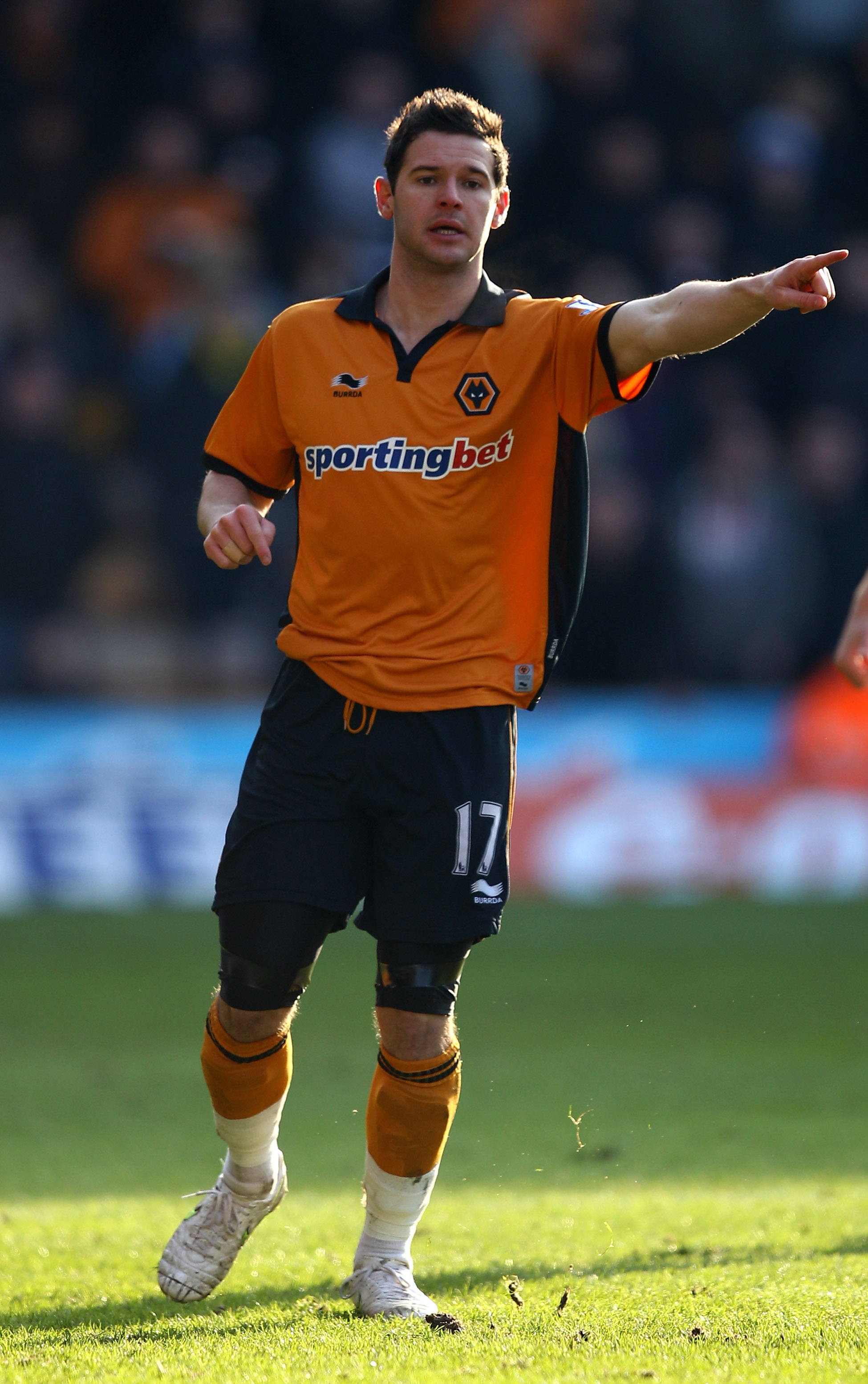 WOLVERHAMPTON, ENGLAND - JANUARY 30:  Matt Jarvis of Wolves in action during the FA Cup Sponsored by E.ON 4th Round match between Wolverhampton Wanderers and Stoke City at Molineux on January 30, 2011 in Wolverhampton, England.  (Photo by Richard Heathcot