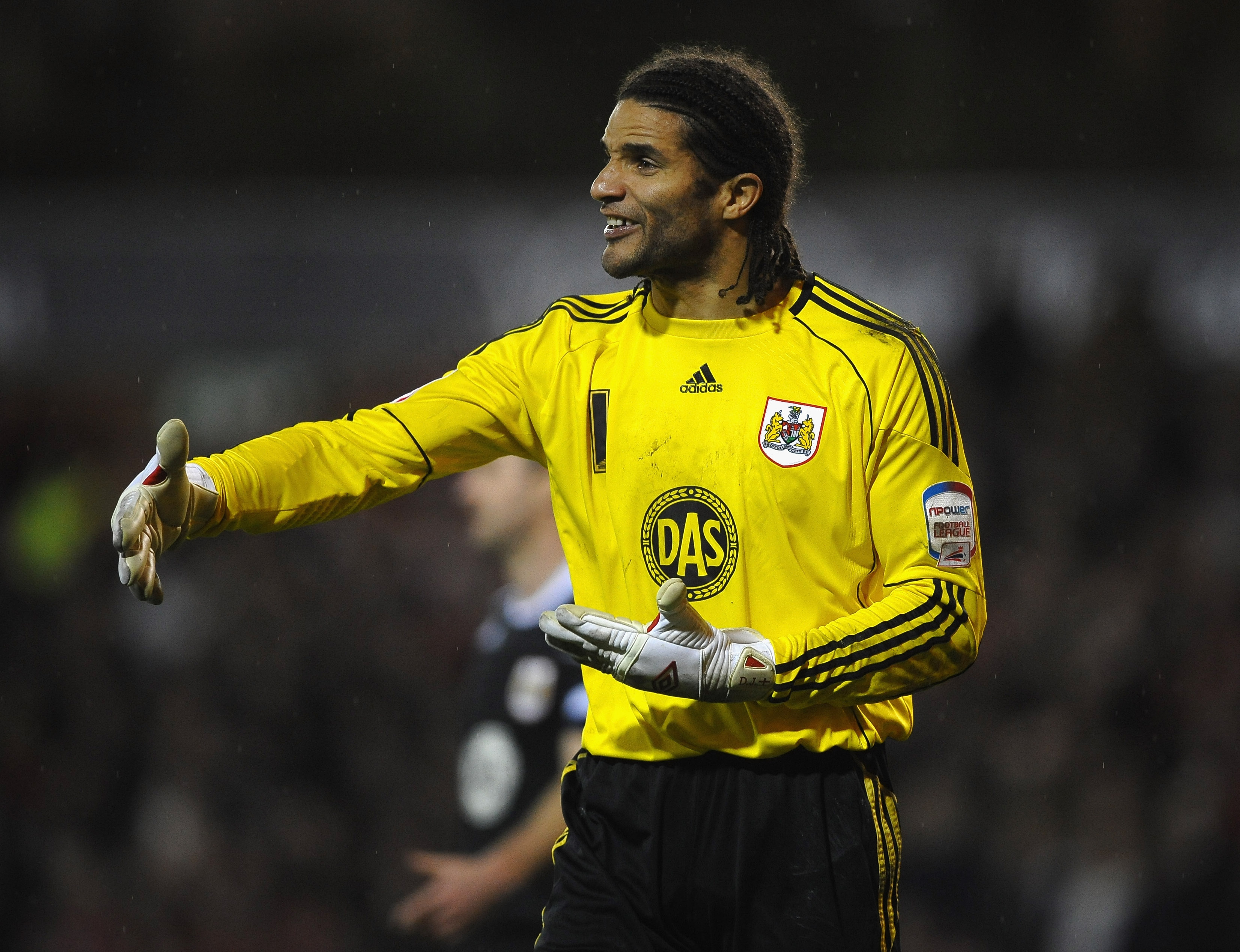 NOTTINGHAM, ENGLAND - JANUARY 25: David James of Bristol City in action during the npower Championship match between Nottingham Forest and Bristol City at City Ground on January 25, 2011 in Nottingham, England.  (Photo by Laurence Griffiths/Getty Images)