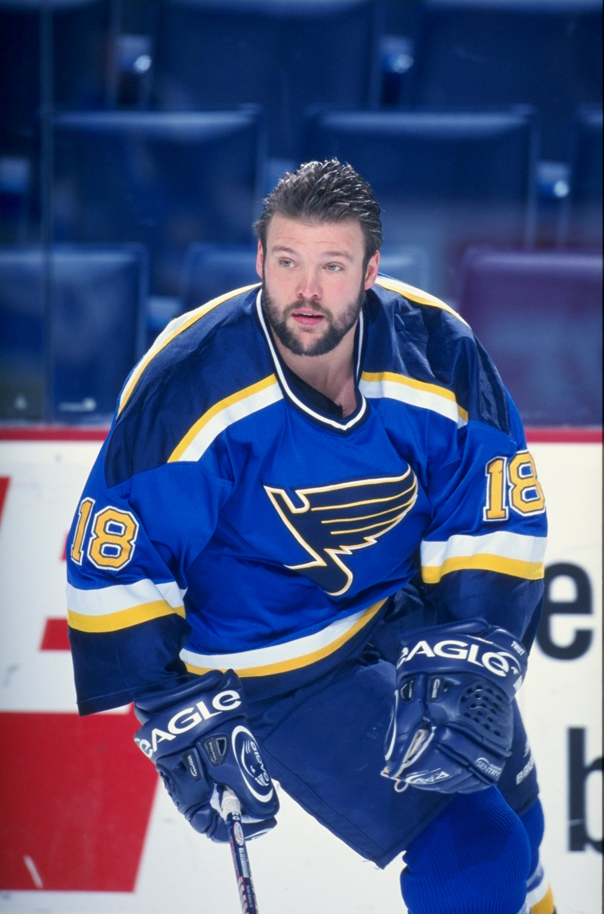 13 Jan 1999 Tony Twist 18 Of The St Louis Blues In Action