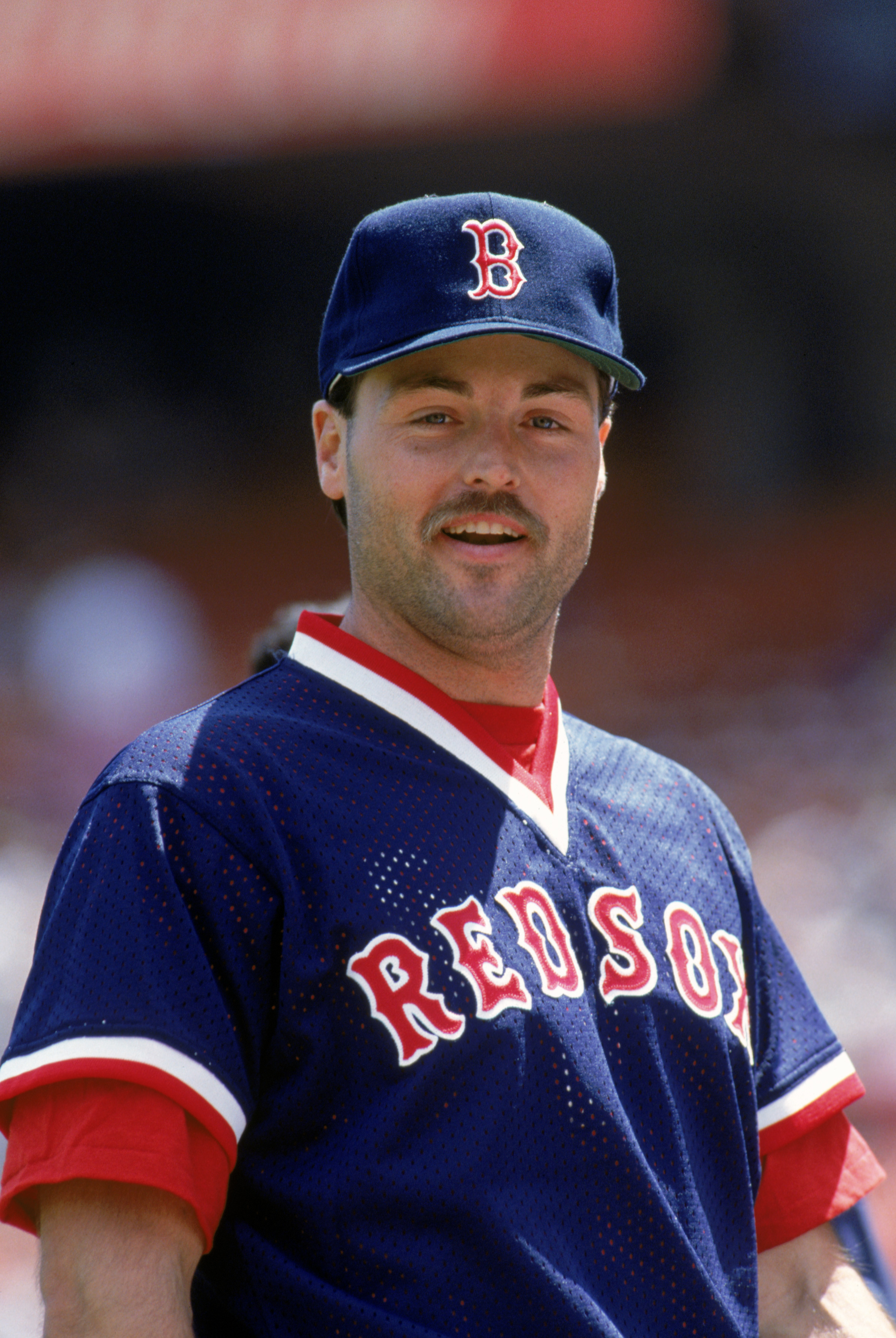 1990:  Tom Brunansky of the Boston Red Sox poses for a portrait during the 1990 season. (Photo by Otto Greule Jr/Getty Images)