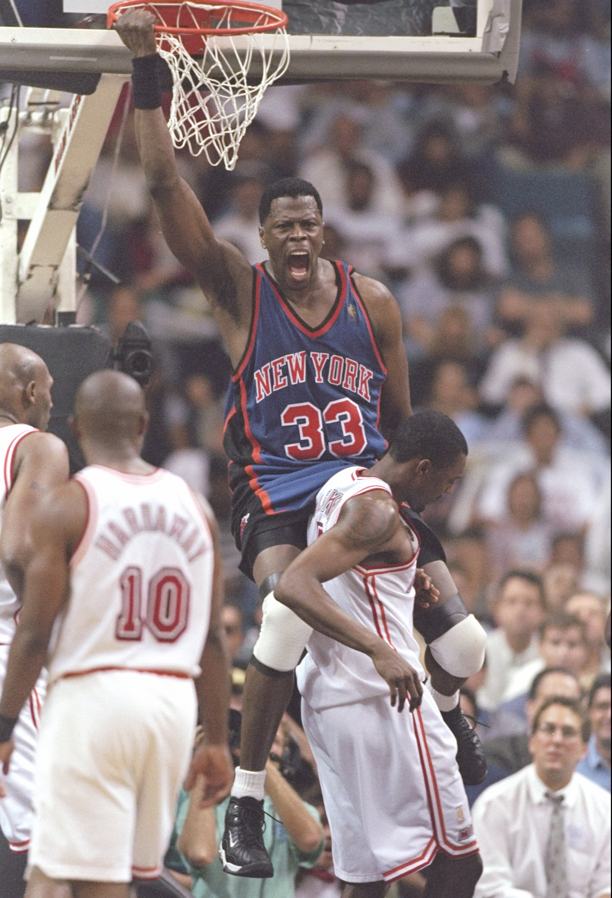 2efb4f25d0c4 7 May 1997  Center Patrick Ewing of the New York Knicks slam dunks the ball