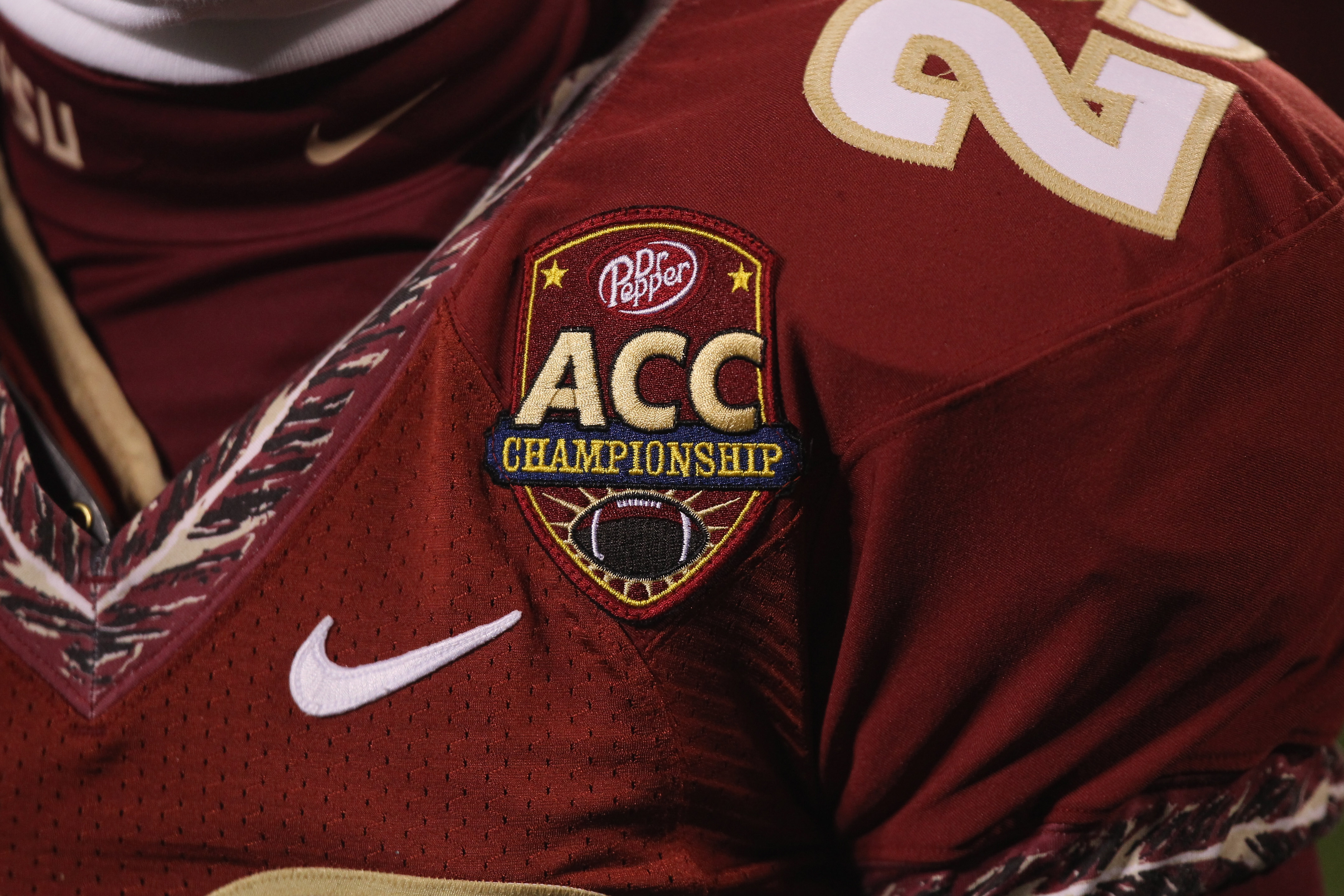 CHARLOTTE, NC - DECEMBER 04:  A logo of the ACC Championship game during the Florida State Seminoles versus Virginia Tech Hokies during their game at Bank of America Stadium on December 4, 2010 in Charlotte, North Carolina.  (Photo by Streeter Lecka/Getty