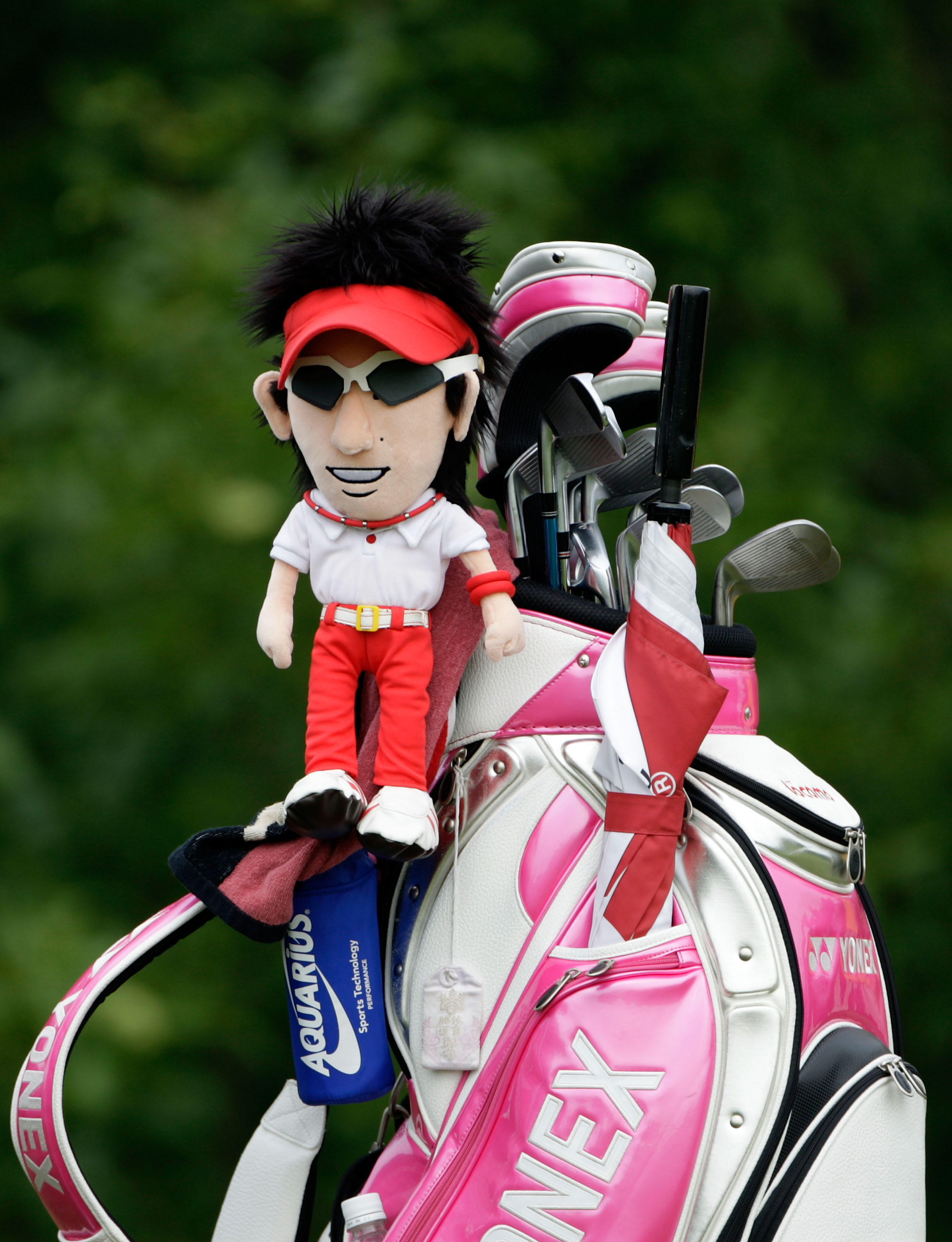CHASKA, MN - AUGUST 15:  The golf bag of Ryo Ishikawa of Japan is seen on the tenth hole during the third round of the 91st PGA Championship at Hazeltine National Golf Club on August 15, 2009 in Chaska, Minnesota.  (Photo by Jamie Squire/Getty Images)