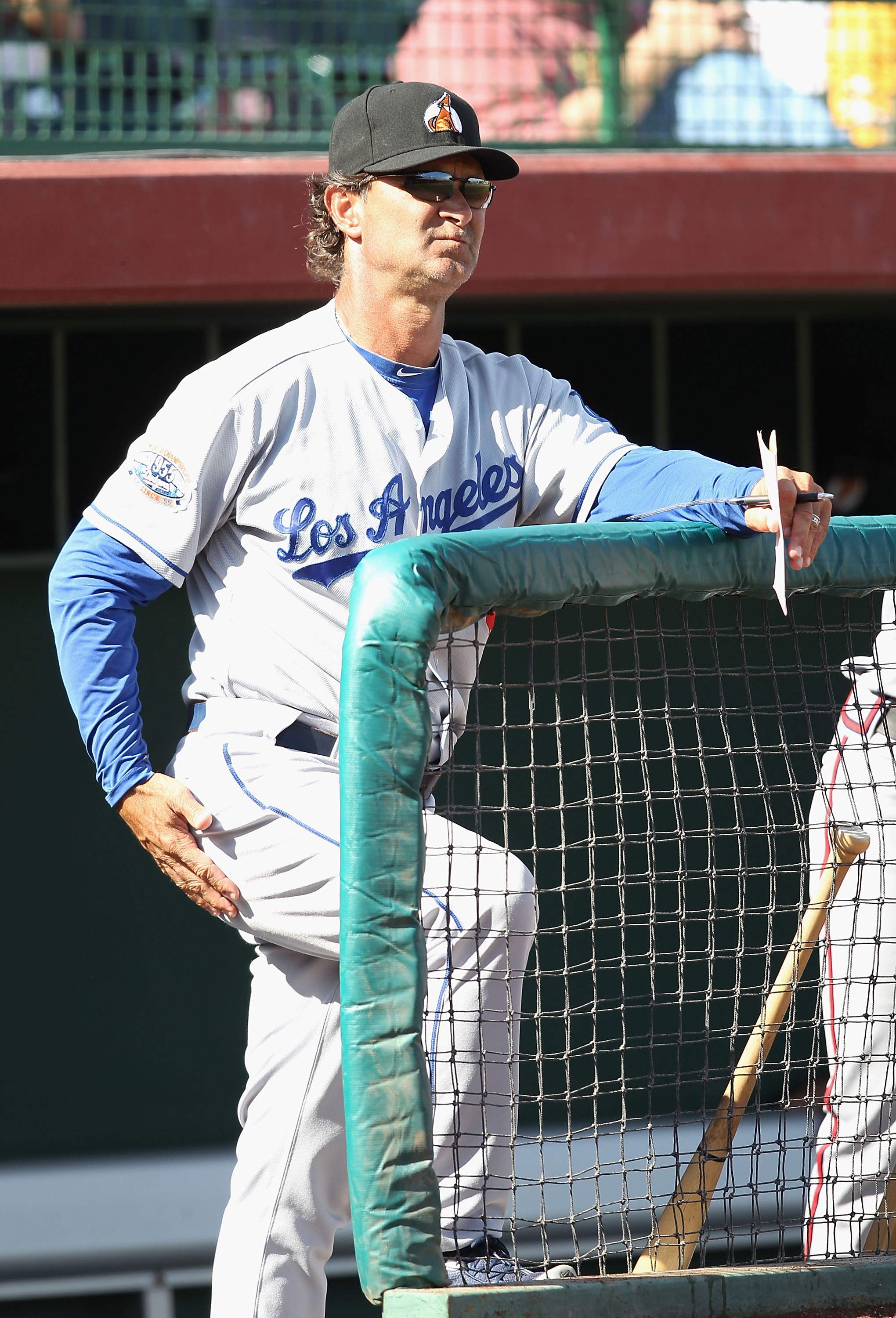 SCOTTSDALE, AZ - OCTOBER 23:  Los Angeles Dodgers manager Don Mattingly coaches for the Phoenix Desert Dogs during the AZ Fall League game against the Scottsdale Scorpions at Scottsdale Stadium on October 23, 2010 in Scottsdale, Arizona.  (Photo by Christ