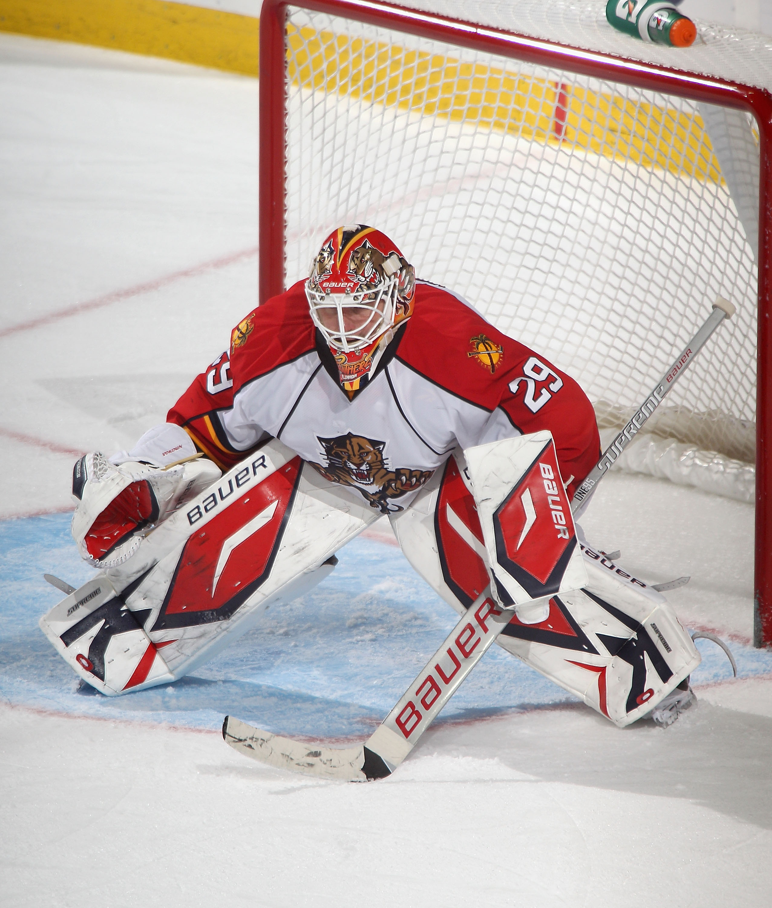 BUFFALO, NY - DECEMBER 23:  Tomas Vokoun #29 of the Florida Panthers stands in goal against the Buffalo Sabres  at HSBC Arena on December 23, 2010 in Buffalo, New York. Florida won 4-3.  (Photo by Rick Stewart/Getty Images)