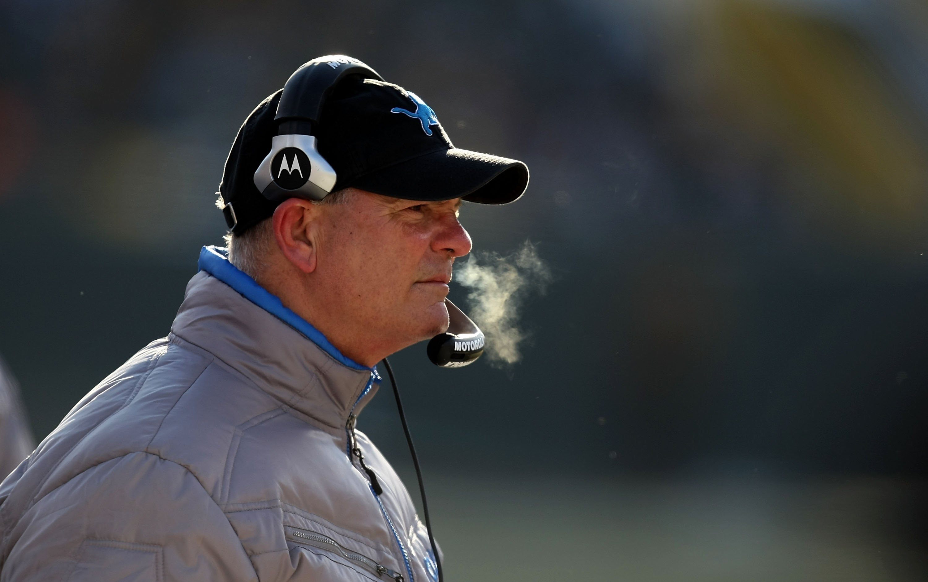 GREEN BAY, WI - DECEMBER 28: Head coach Rod Marinelli of the Detroit Lions watches as his team takes on the Green Bay Packers on December 28, 2008 at Lambeau Field in Green Bay, Wisconsin. The Packers defeated the Lions 31-21. (Photo by Jonathan Daniel/Ge