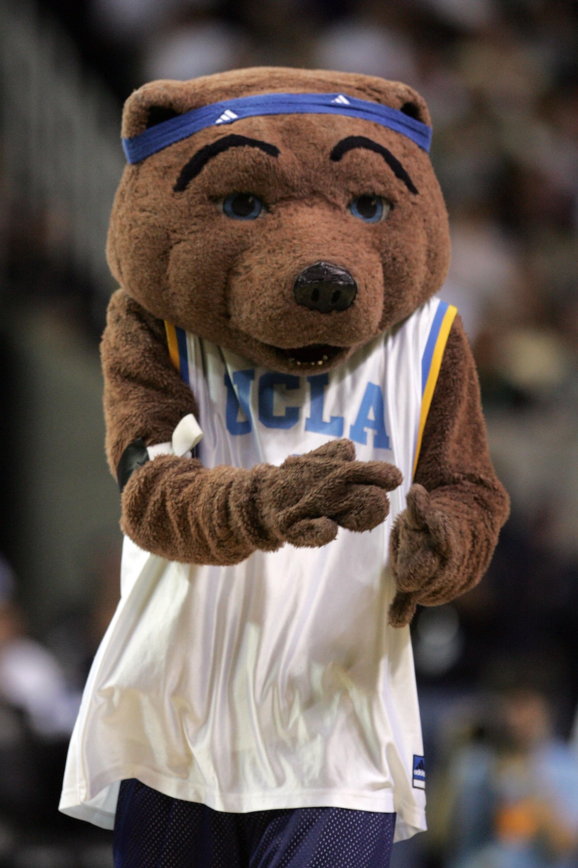 ATLANTA - MARCH 31:  The UCLA Bruins' mascot performs during the National Semifinal game against the Florida Gators in the NCAA Men's Final Four at the Georgia Dome on March 31, 2007 in Atlanta, Georgia.  (Photo by Andy Lyons/Getty Images)