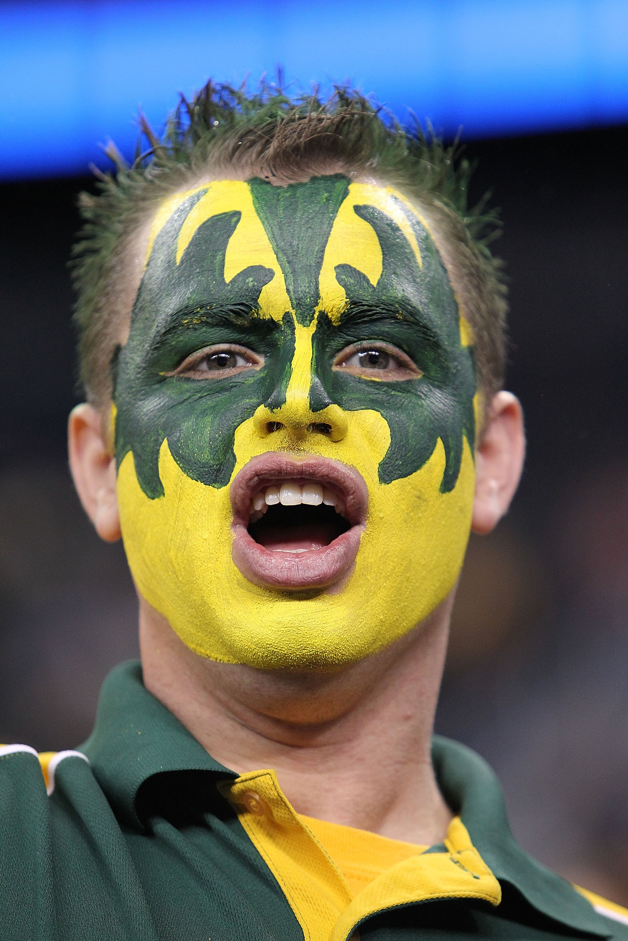 HOUSTON - MARCH 28: A Baylor Bears fan during the south regional final of the 2010 NCAA men's basketball tournament at Reliant Stadium on March 28, 2010 in Houston, Texas. (Photo by Ronald Martinez/Getty Images)