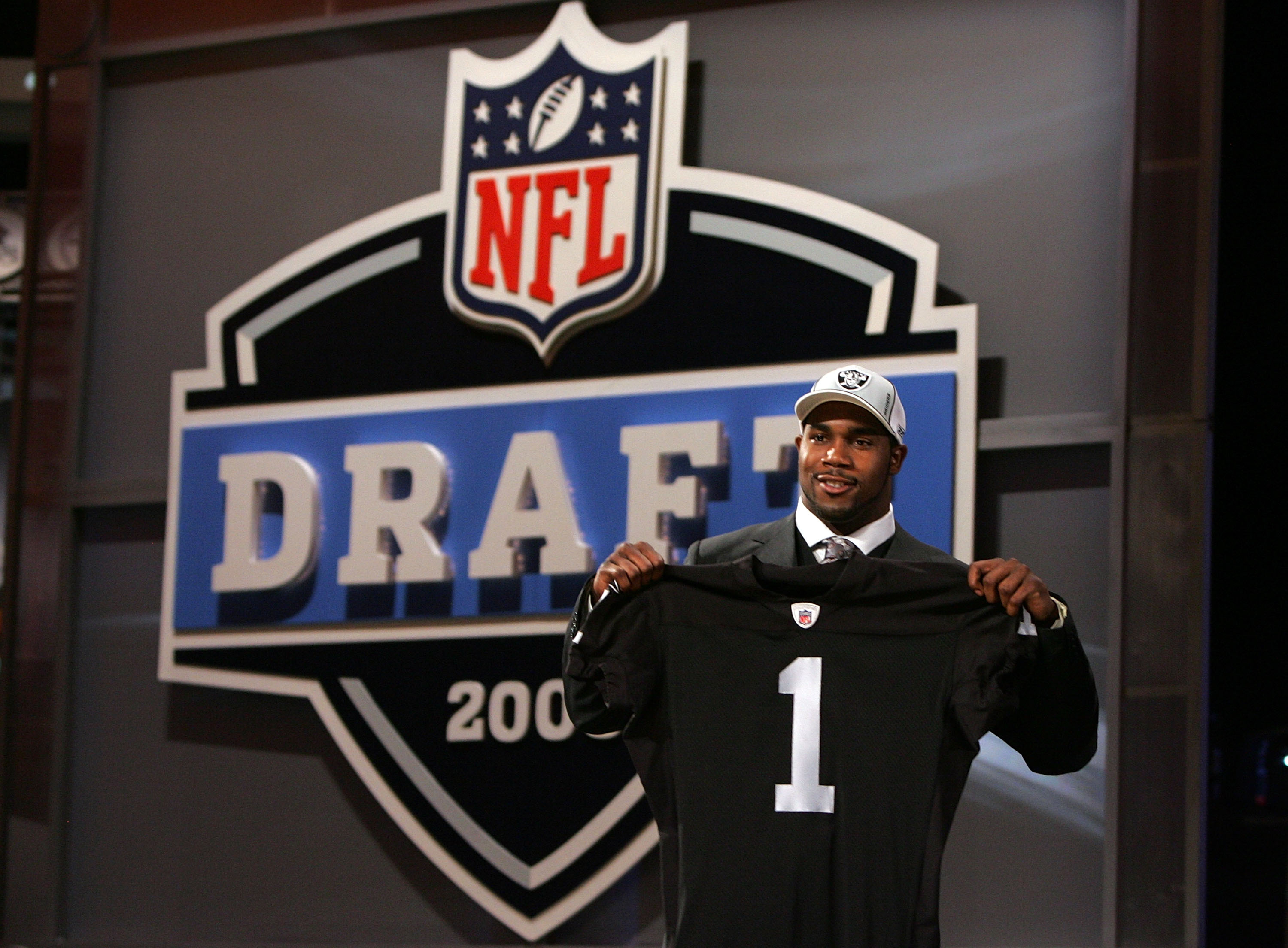 NEW YORK - APRIL 26:  Darren McFadden poses for a photo after being selected fourth overall by the Oakland Raiders during the 2008 NFL Draft on April 26, 2008 at Radio City Music Hall in New York, New York.  (Photo by Jim McIsaac/Getty Images)