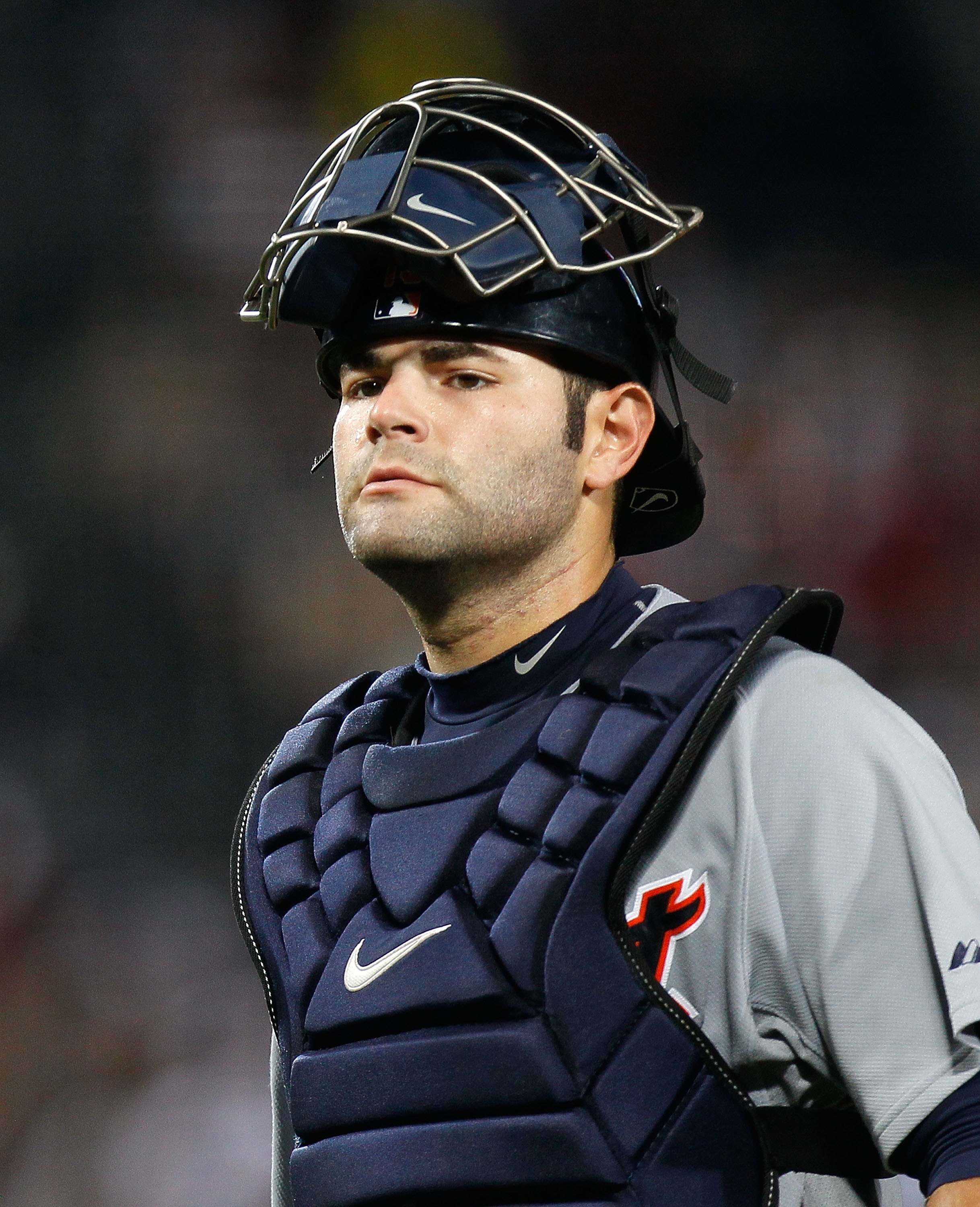 ATLANTA - JUNE 25:  Catcher Alex Avila #13 of the Detroit Tigers against the Atlanta Braves at Turner Field on June 25, 2010 in Atlanta, Georgia.  (Photo by Kevin C. Cox/Getty Images)