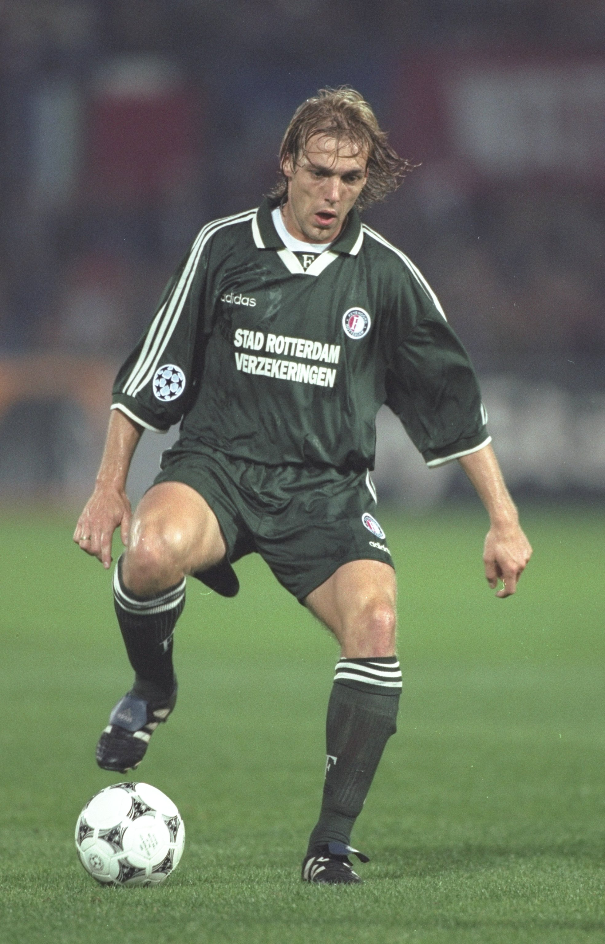 1 Oct 1997:  Paul Bosvelt of Feyenoord in action during the Champions League match against FC Kosice at the De Kuip stadium in Rotterdam, Holland. Feyenoord won the match 2-0. \ Mandatory Credit: Phil Cole /Allsport