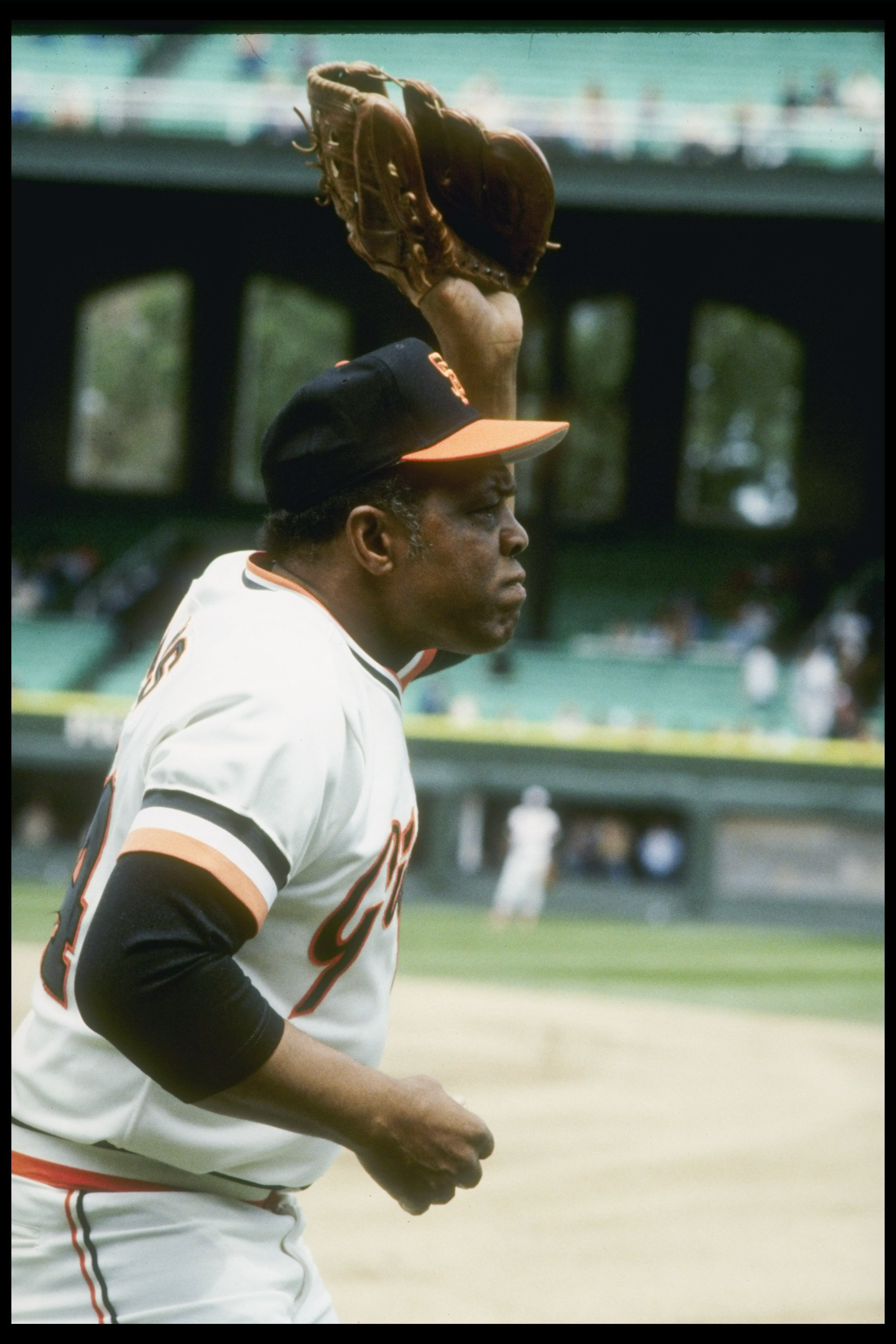 Jul 1983:  Former San Francisco Giants player Willie Mays attends the All-Star Game at Comiskey Park in Chicago, Illinois. Mandatory Credit: Allsport  /Allsport