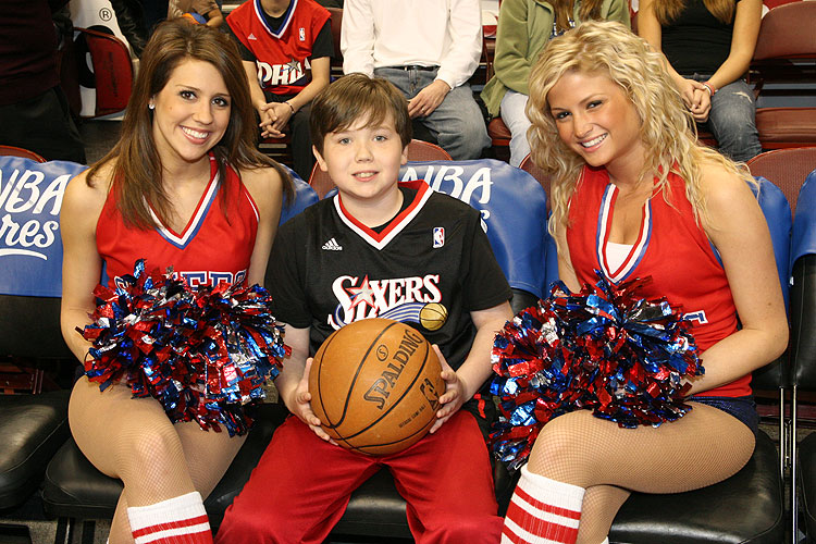 The Sixers Dancers can't attract every fan...OK, maybe the little guy.