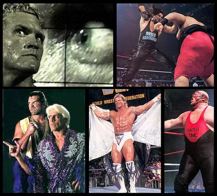 Sid, Diesel vs. Yokozuna, Razor Ramon with Ric Flair, Lex Luger and Vader.