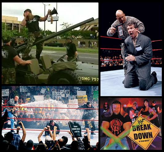DX invading WCW and Stone Cold vs. Vince McMahon.