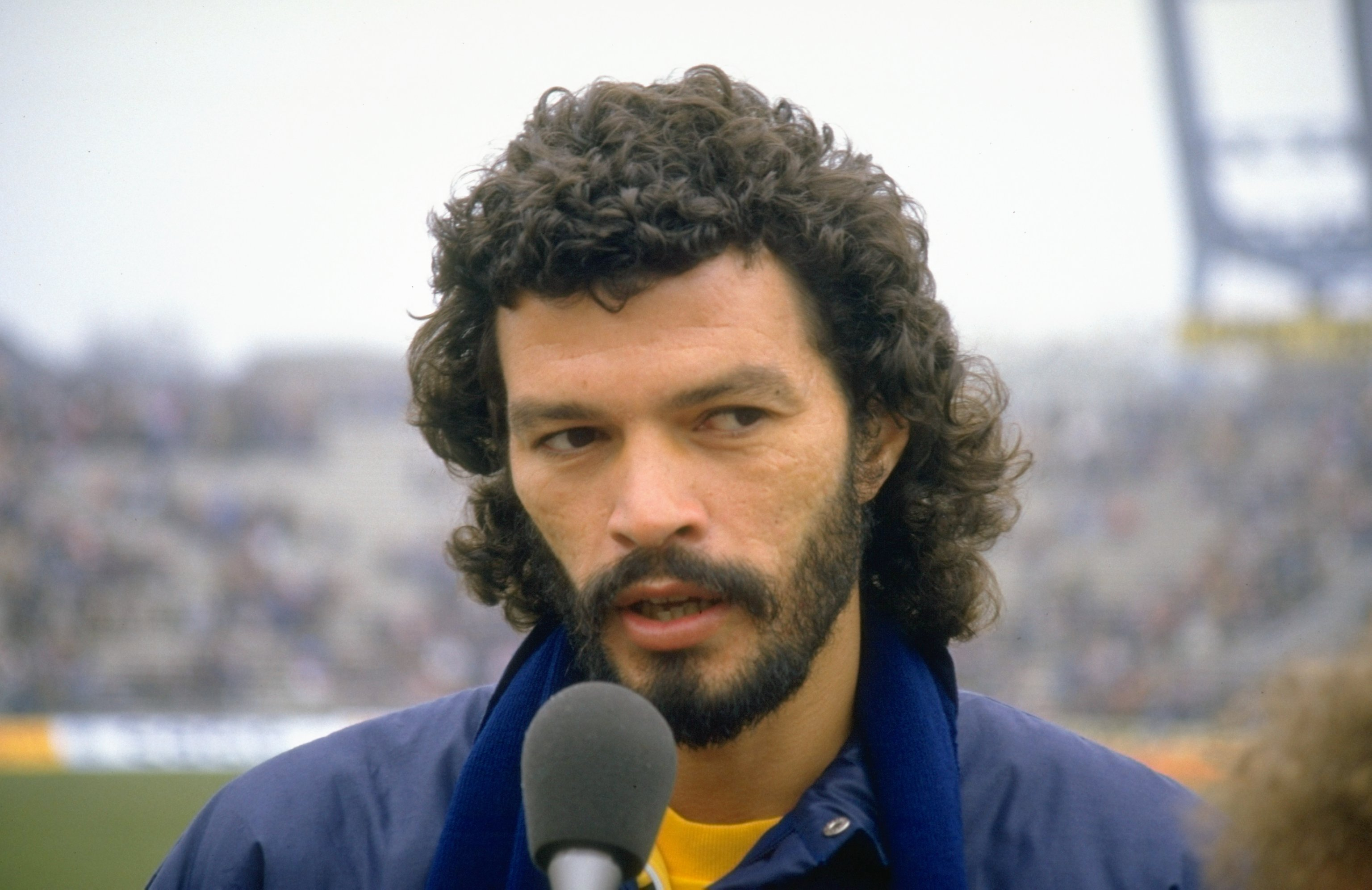 Mar 1986:  Portrait of Socrates of Brazil after a match against Hungary in Hungary. Hungary won the match 3-0. \ Mandatory Credit: David  Cannon/Allsport