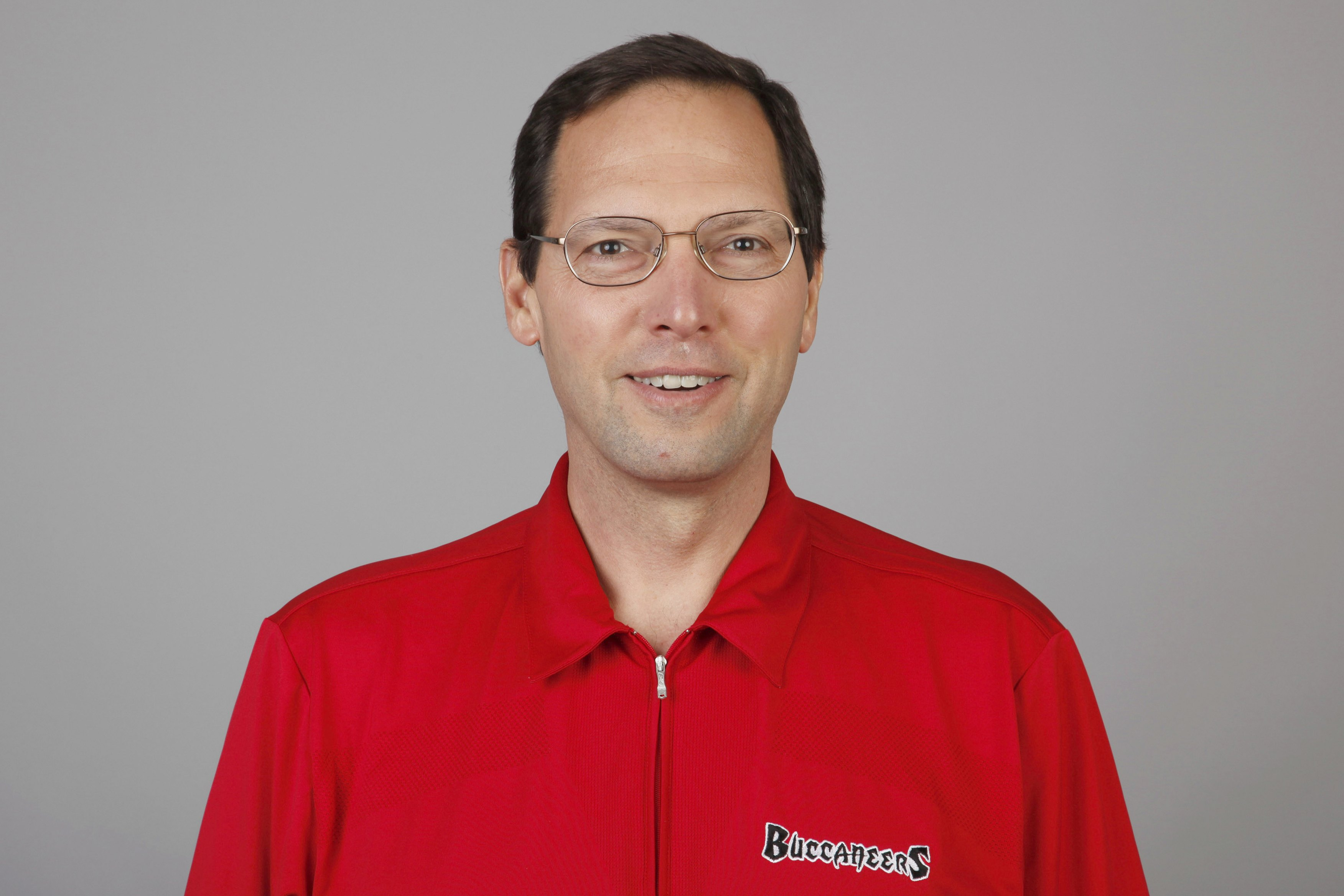 TAMPA, FL - 2009:  Pete Mangurian of the Tampa Bay Buccaneers poses for his 2009 NFL headshot at photo day in Tampa, Florida.  (Photo by NFL Photos)