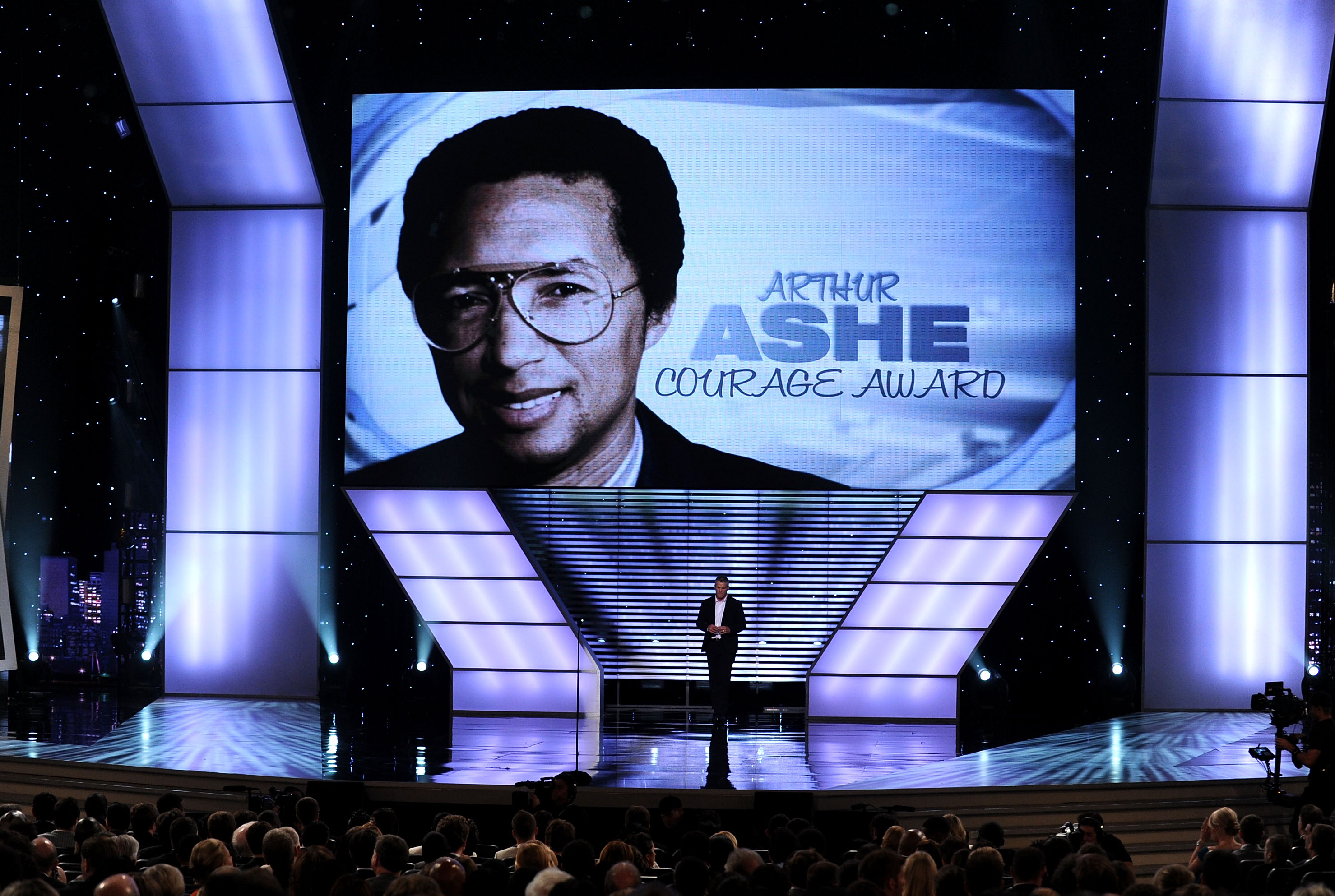 LOS ANGELES, CA - JULY 14:  Atmospher onstage during the Arthur Ashe Courage Award presentation during the 2010 ESPY Awards at Nokia Theatre L.A. Live on July 14, 2010 in Los Angeles, California.  (Photo by Kevin Winter/Getty Images)