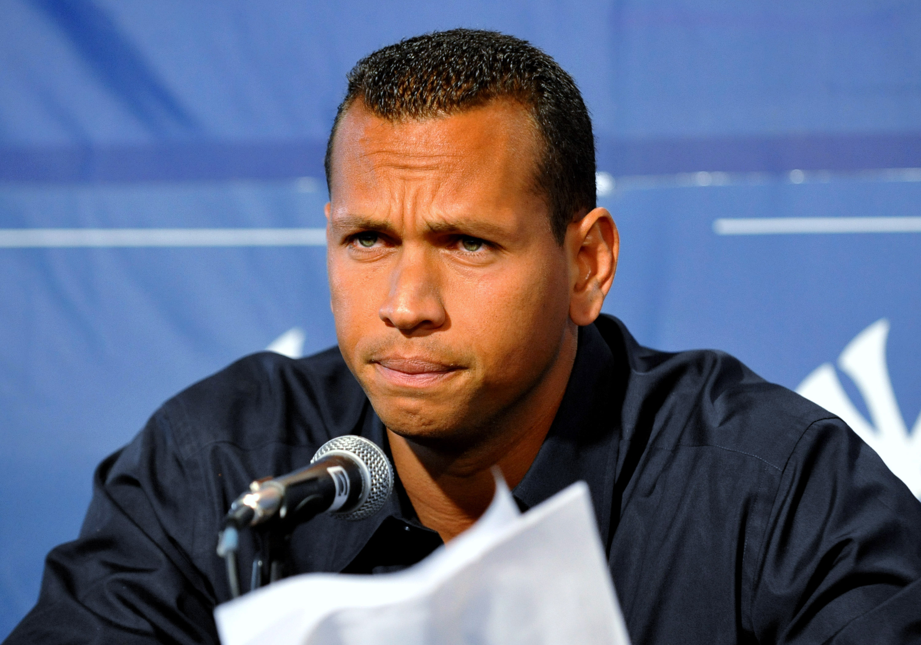 TAMPA - FEBRUARY 17: Infielder Alex Rodriguez of the New York Yankees talks during a press conference February 17, 2008 at the George M. Steinbrenner Field in Tampa, Florida. The Yankees third baseman admitted to taking a substance known as 'boli' acquire