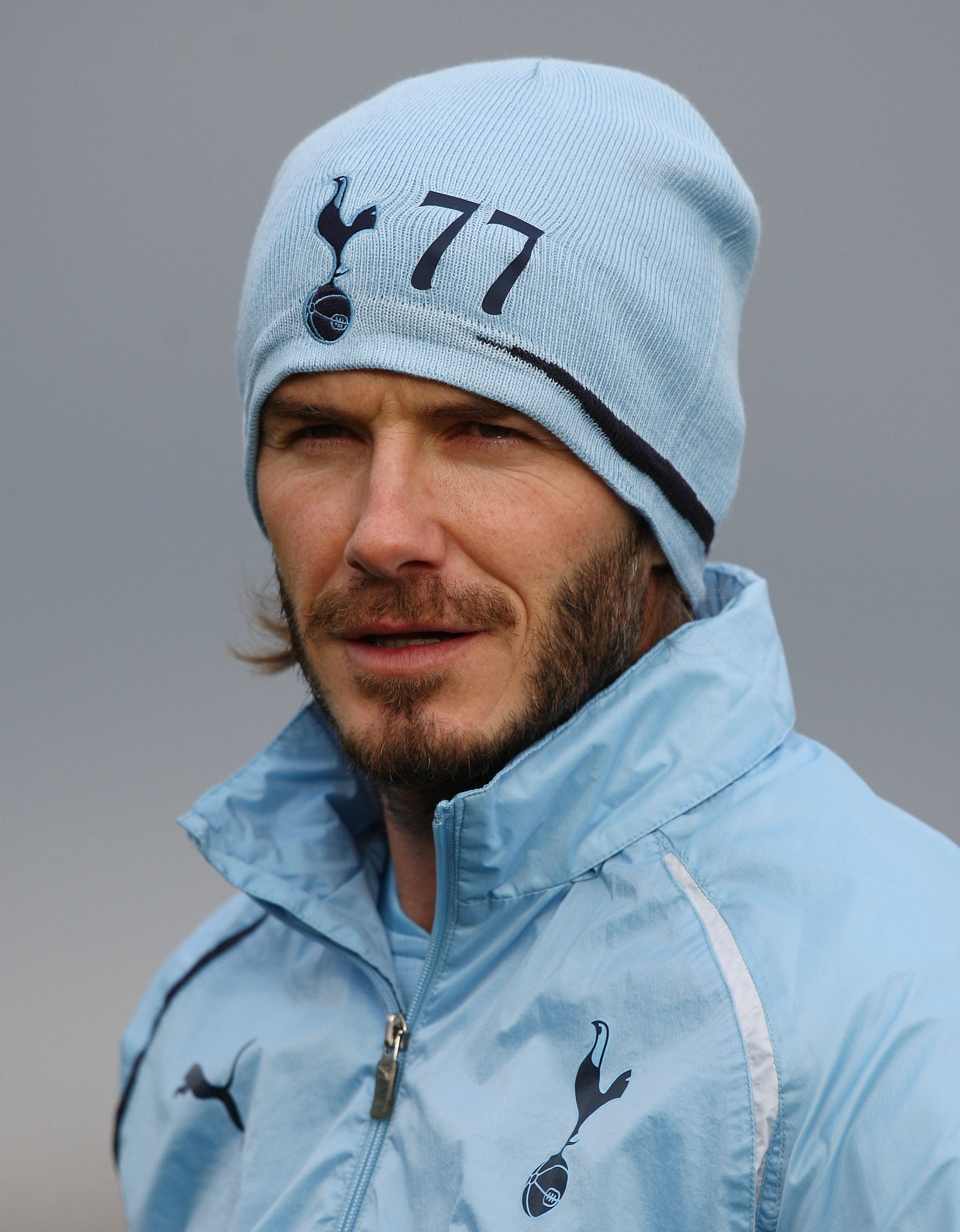 CHIGWELL, ENGLAND - JANUARY 11:  David Beckham takes part in a Tottenham Hotspur training session at Tottenham Hotspur training ground on January 11, 2011 in Chigwell, England.  (Photo by Paul Childs - Pool/Getty Images)