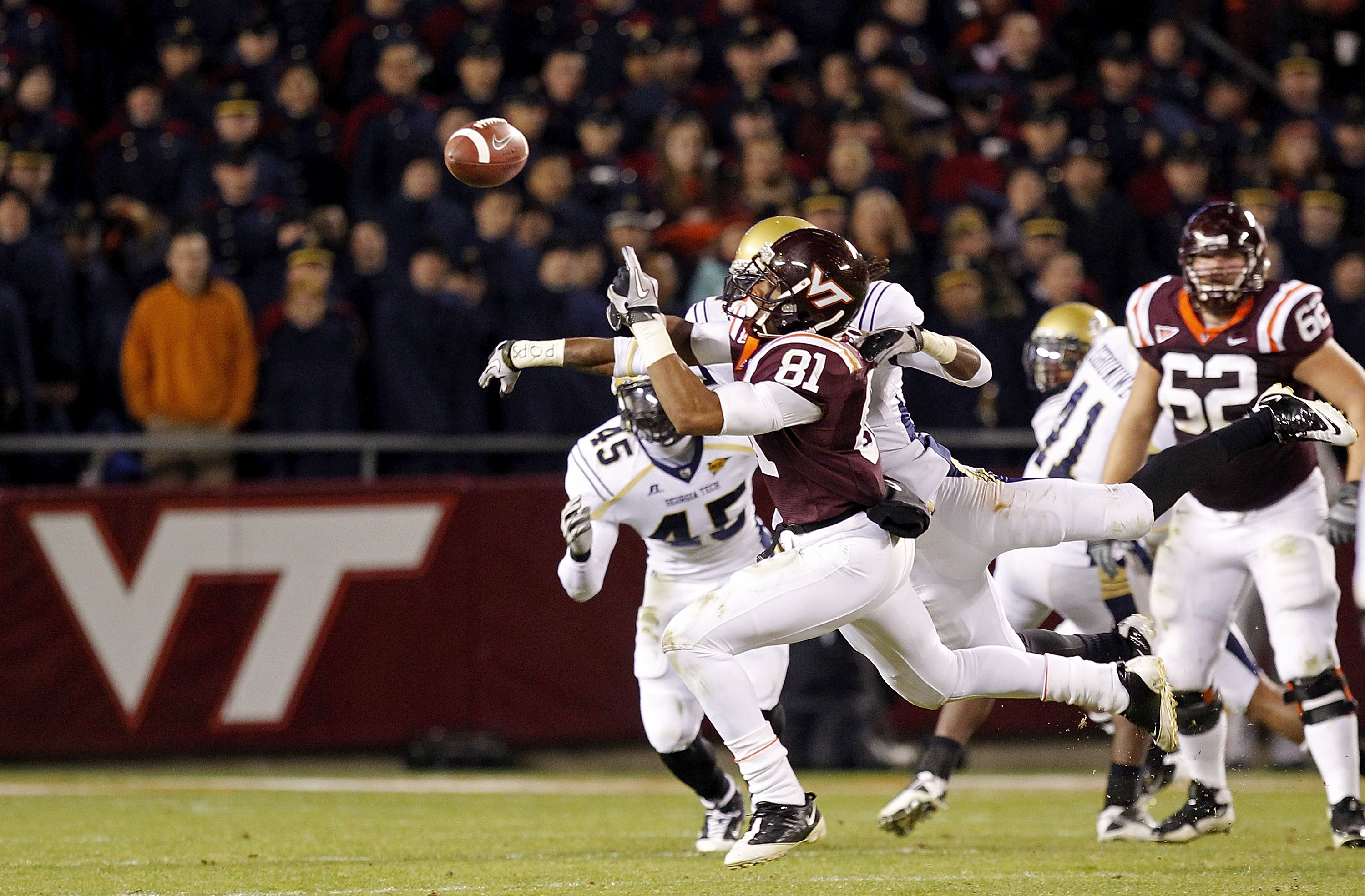 Butler Breaking Up a Pass Against Virginia Tech