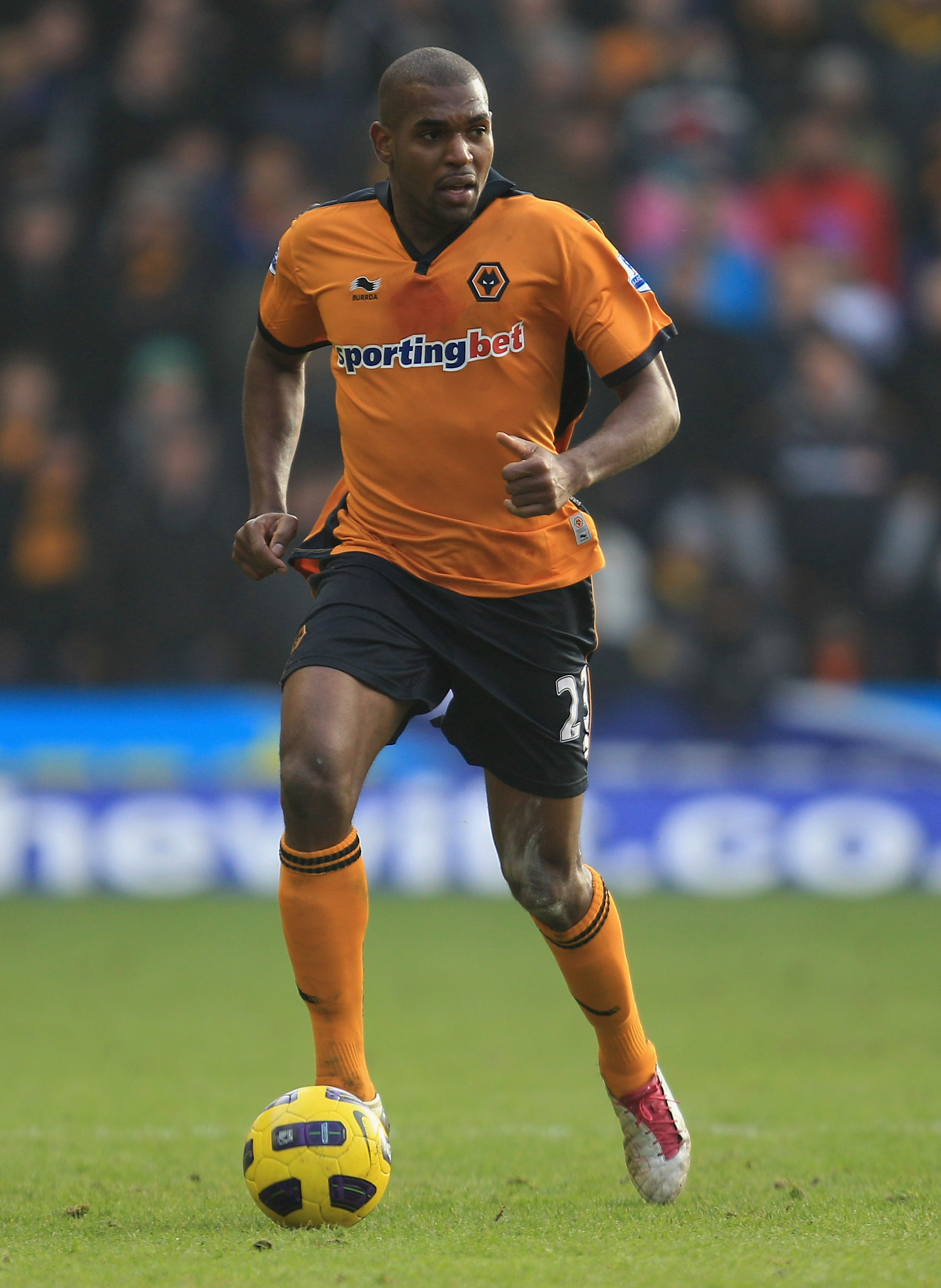 WOLVERHAMPTON, ENGLAND - JANUARY 22:  Ronald Zubar of Wolverhampton Wanderers in action during the Barclays Premier League match between Wolverhampton Wanderers and Liverpool at Molineux on January 22, 2011 in Wolverhampton, England.  (Photo by Mark Thomp