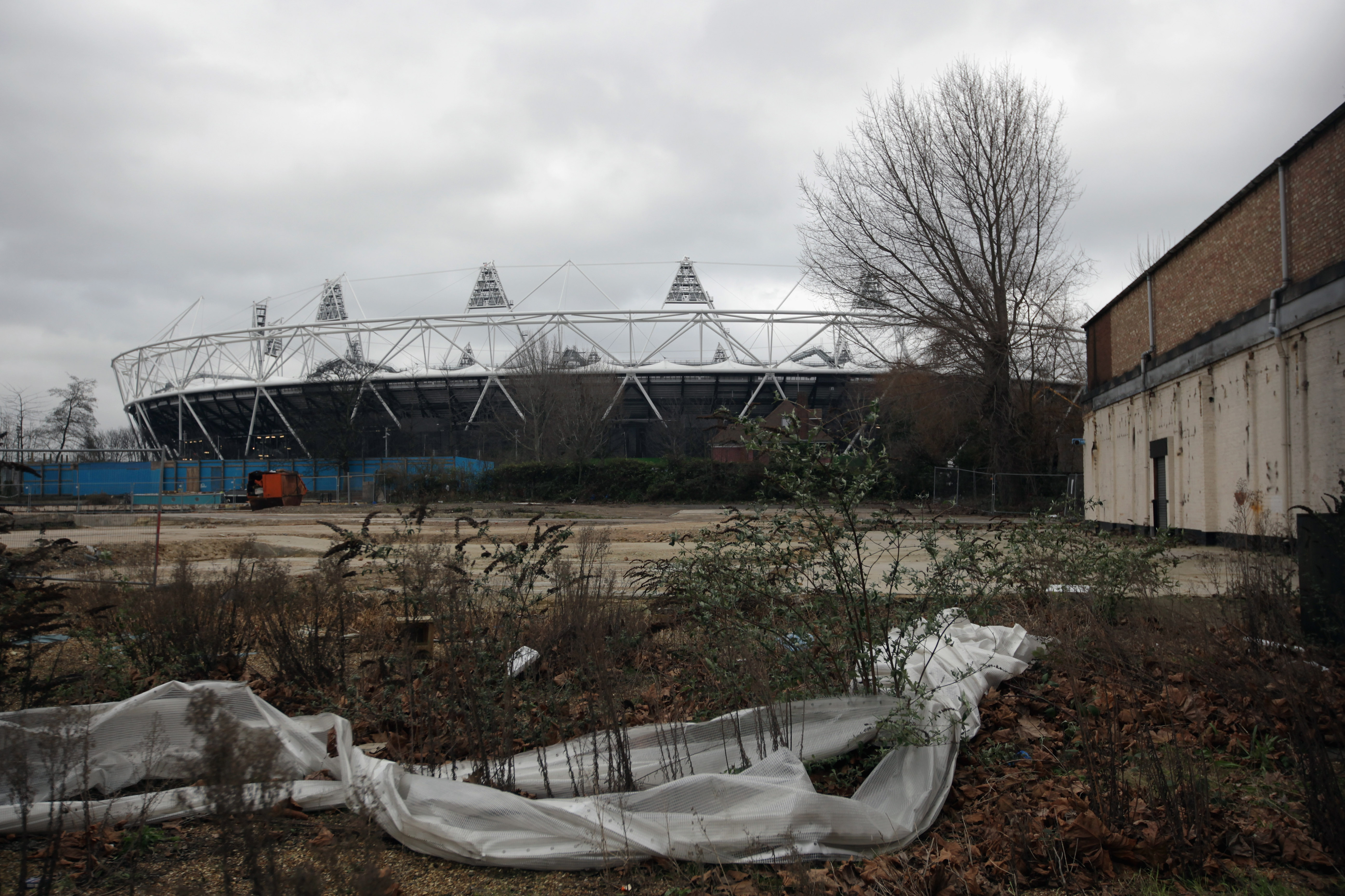 LONDON, ENGLAND - FEBRUARY 07:  A general view over wasteland of the Olympic Stadium at Stratford on February 7, 2011 in London, England. A decision by the Olympic Park Legacy Company will decide on the future of the 500m GBP, 80,000 seat stadium later th
