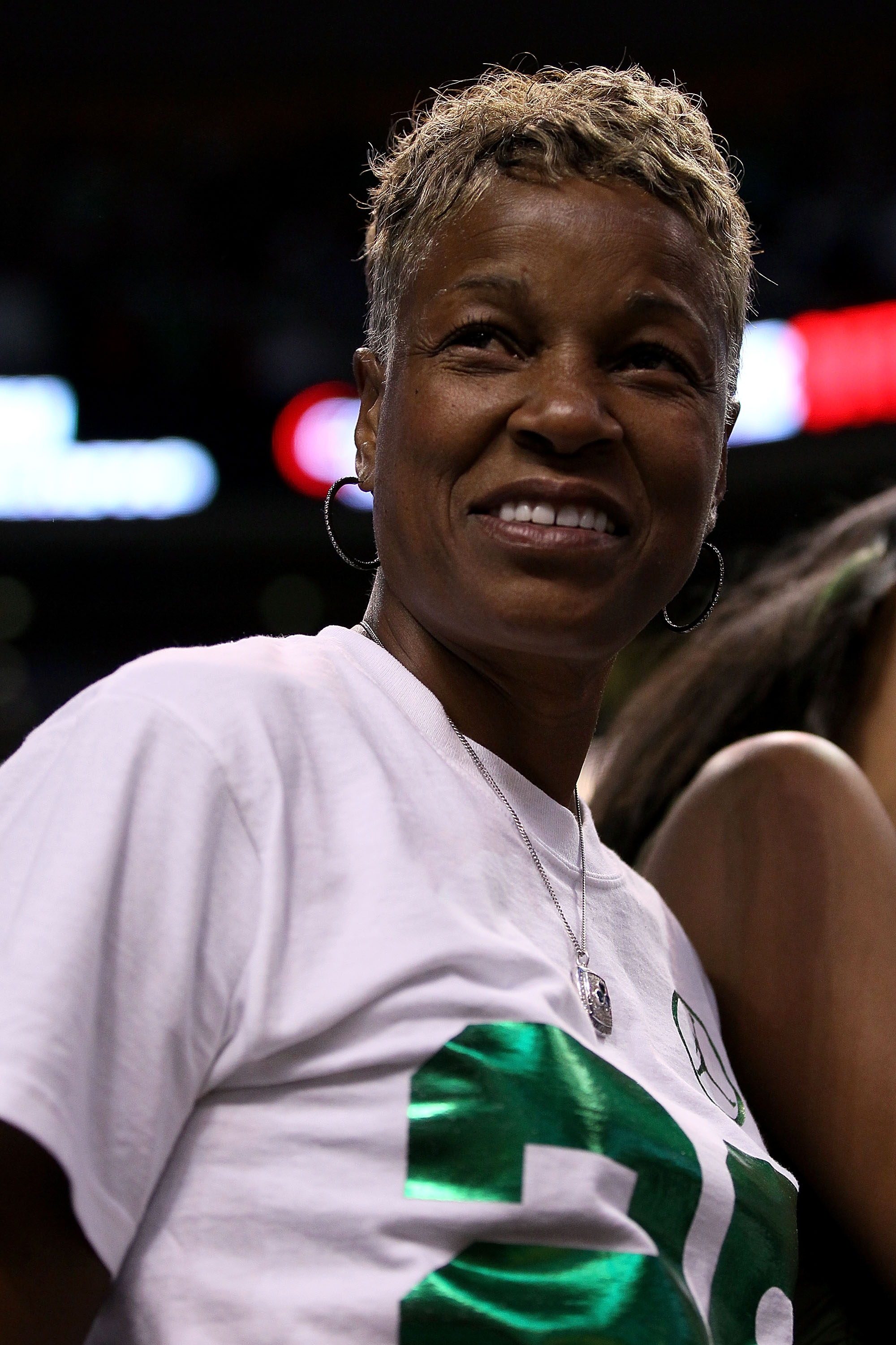 BOSTON - JUNE 10:  Flora Allen-Hopson, mother of Ray Allen of the Boston Celtics attends Game Four of the 2010 NBA Finals between the Los Angeles Lakers and the Boston Celltics on June 10, 2010 at TD Garden in Boston, Massachusetts. NOTE TO USER: User exp