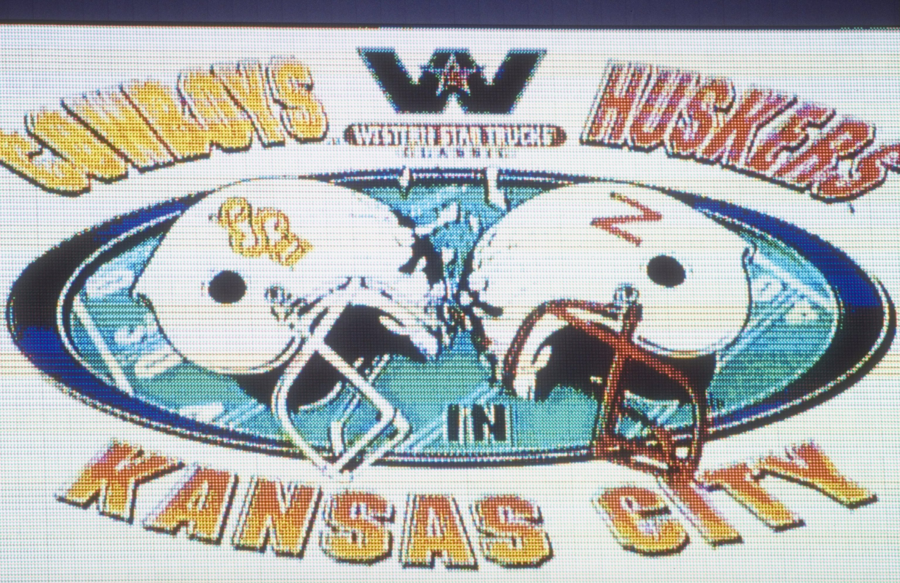 3 Oct 1998:  General view of a graphic on display during the game between the Nebraska Cornhuskers and the Oklahoma State Cowboys at the Arrowhead Stadium in Kansas City, Missouri. The Cornhuskers defeated the Cowboys 24-17. Mandatory Credit: Tim Umphrey