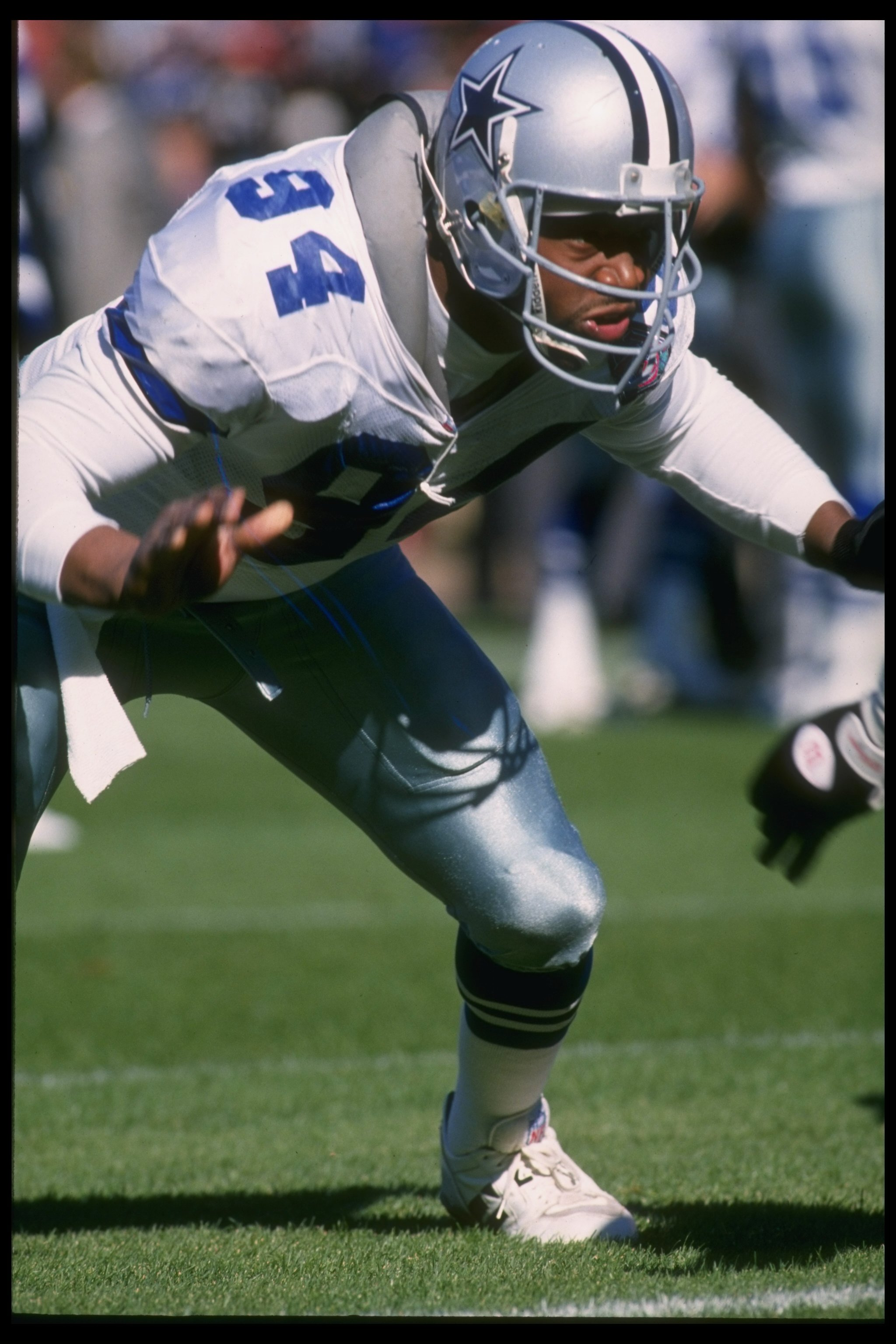 15 Oct 1995: Defensive lineman Charles Haley of the Dallas Cowboys looks on during a game against the San Diego Chargers at Jack Murphy Stadium in San Diego, California. The Cowboys won the game, 23-9.