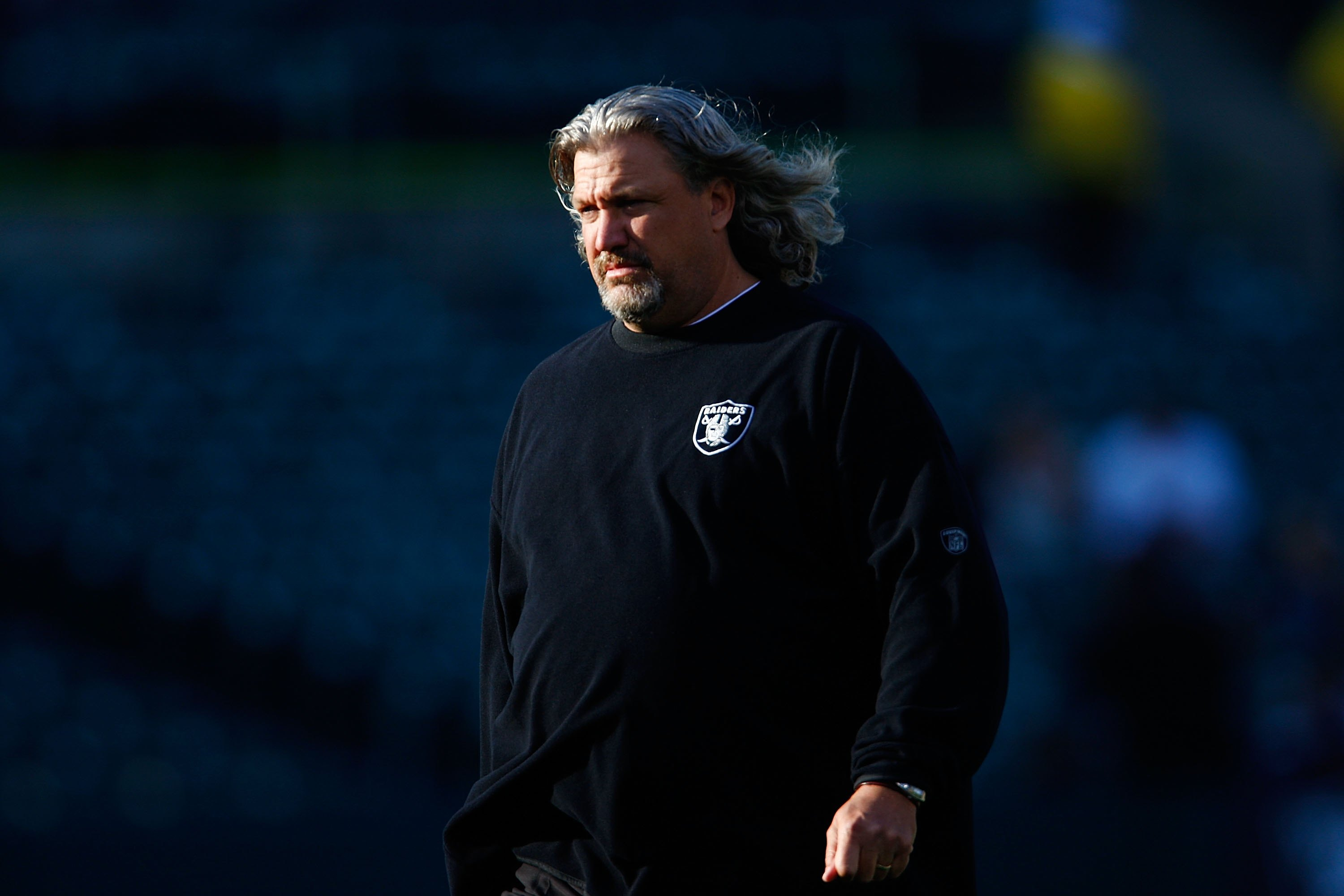 OAKLAND, CA - AUGUST 24:  Defensive coordinator Rob Ryan of the Oakland Raiders looks on against the St. Louis Rams during a preseason game on August 24, 2007 at McAfee Coliseum.  (Photo by Greg Trott/Getty Images)