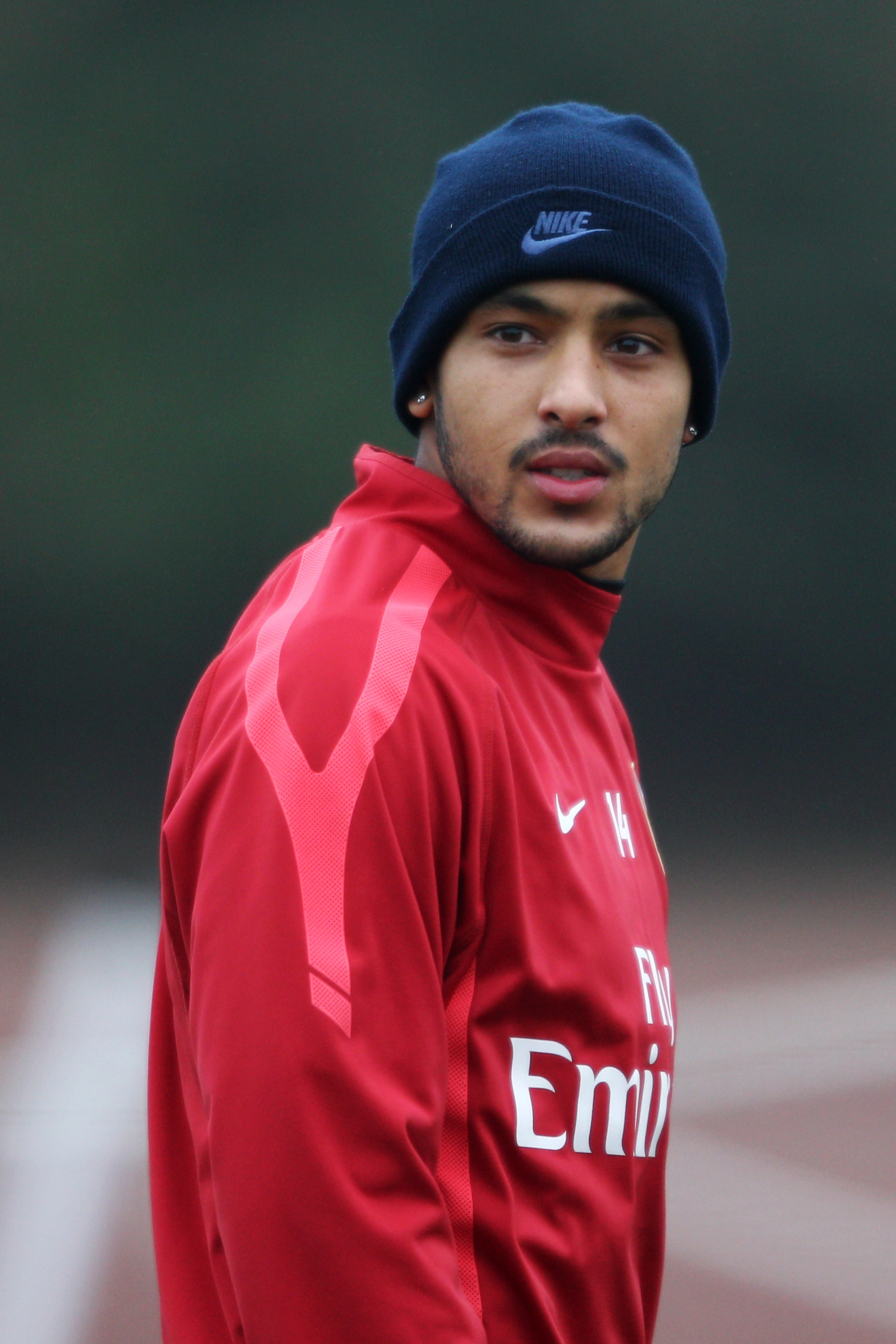ST ALBANS, ENGLAND - DECEMBER Theo Walcott in action during the Arsenal Training Session at London Colney on December 15, 2010 in St Albans, England.  (Photo by Dean Mouhtaropoulos/Getty Images)
