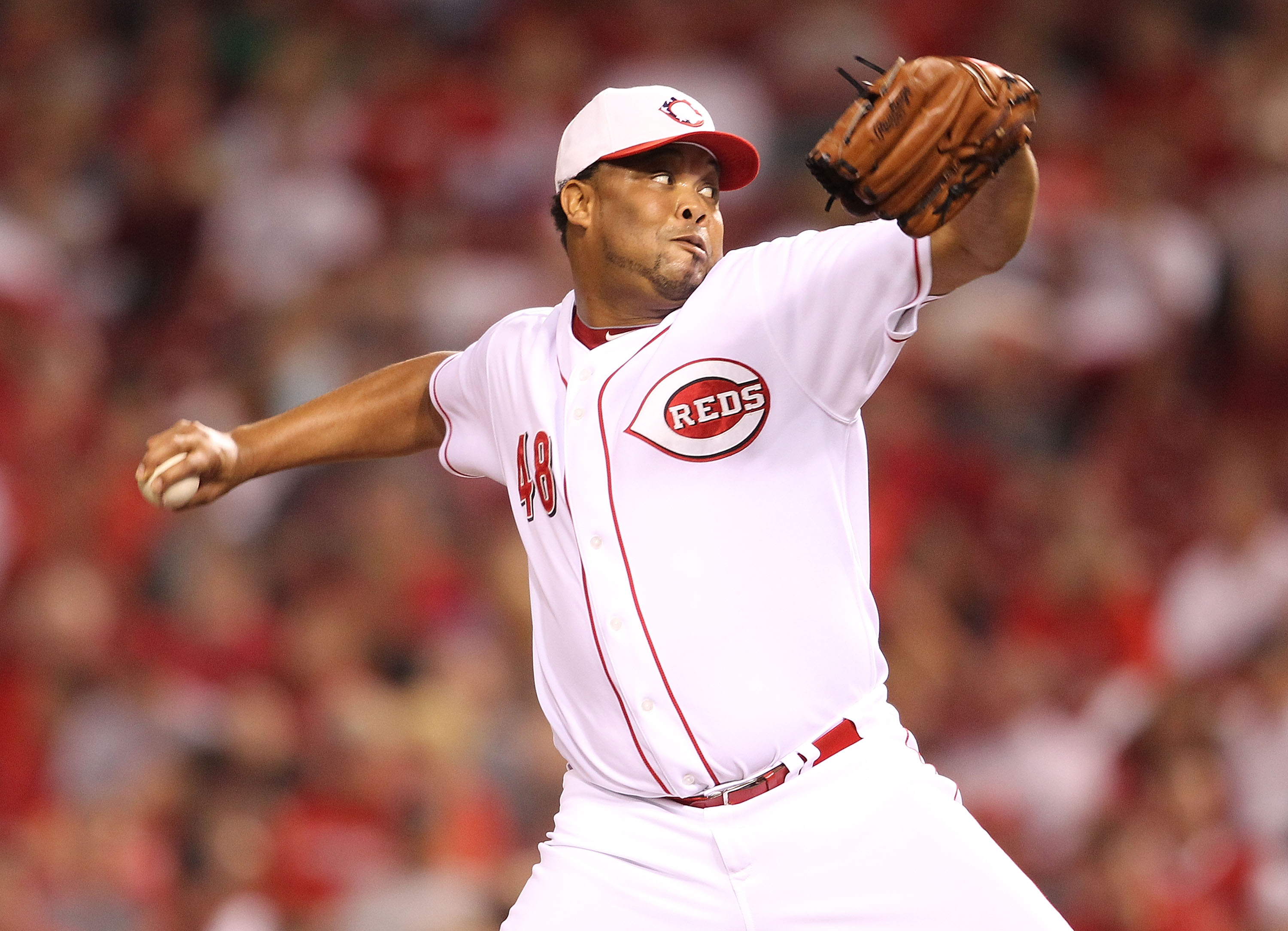 CINCINNATI - SEPTEMBER 11:  Francisco Cordero #48 of the Cincinnati Reds throws a pitch during the game against the Pittsburg Pirates at Great American Ball Park on September 11, 2010 in Cincinnati, Ohio. The Reds won 5-4. (Photo by Andy Lyons/Getty Image