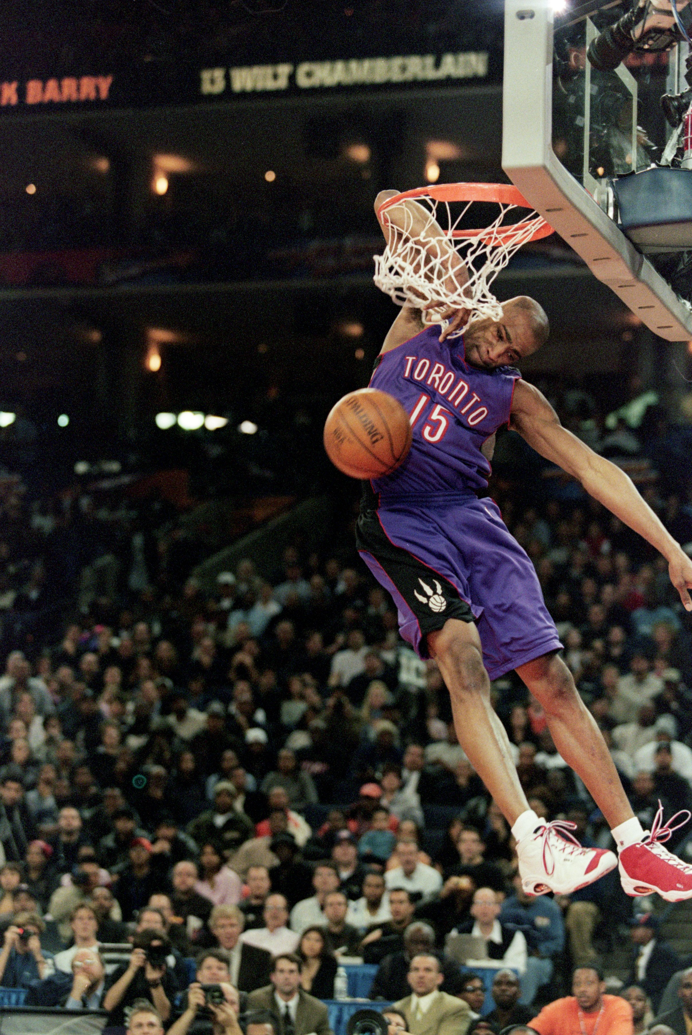 new products 4f1df 76f99 13 Feb 2000  Vince Carter  15 of the Toronto Raptors jumps to make the