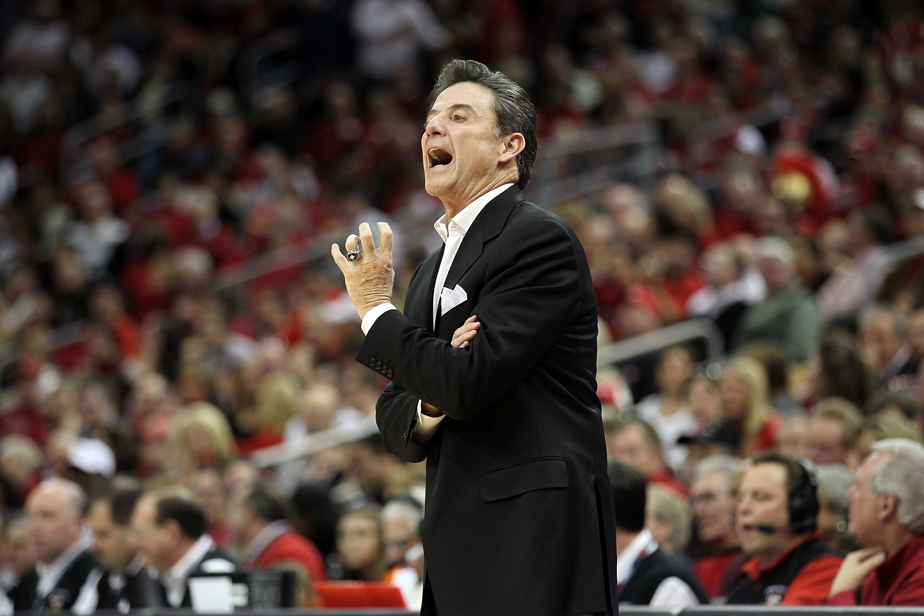 Pitino pleads for a few more wins and a solid seeding in March.