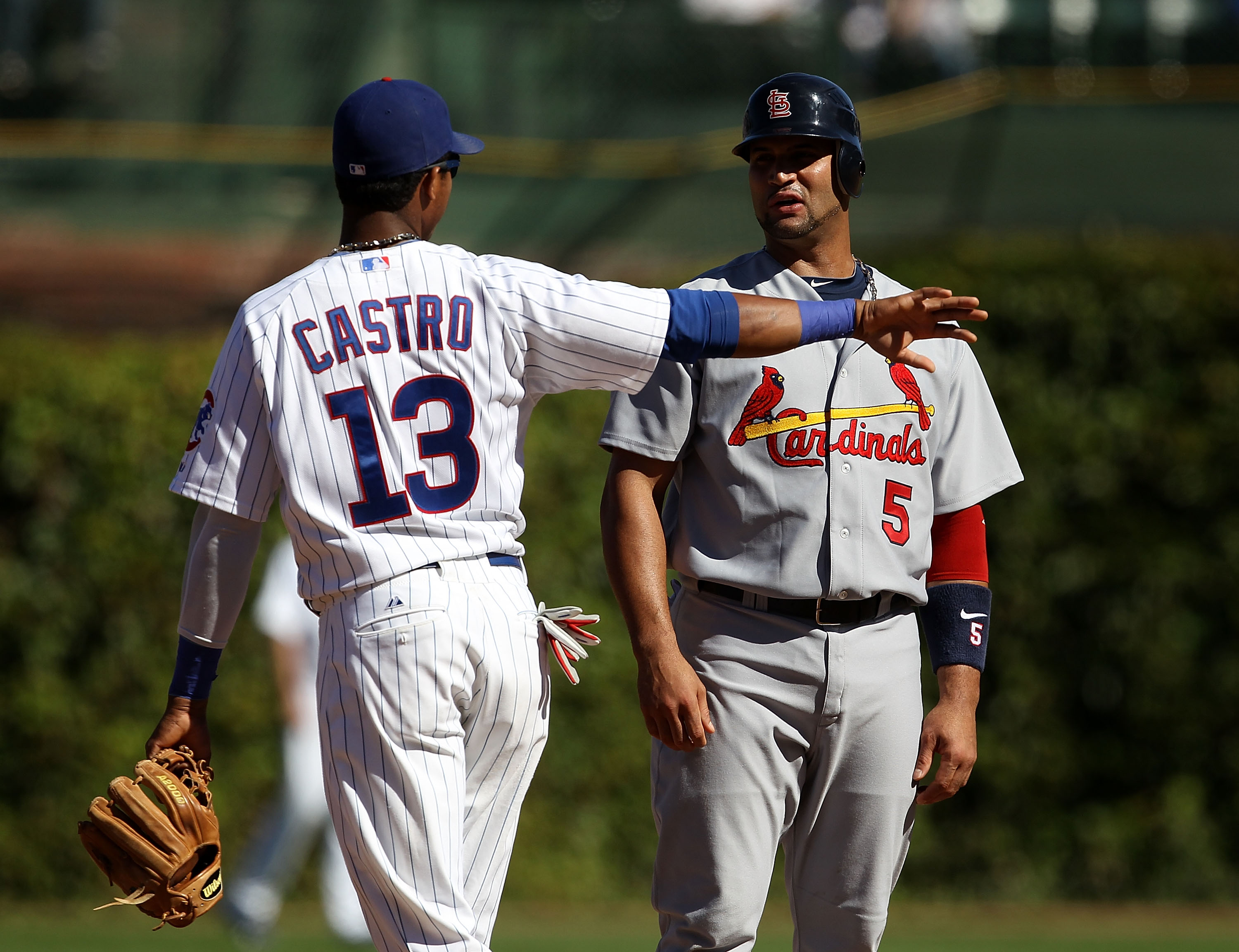 Could Castro be throwing the ball to Pujols in 2012???