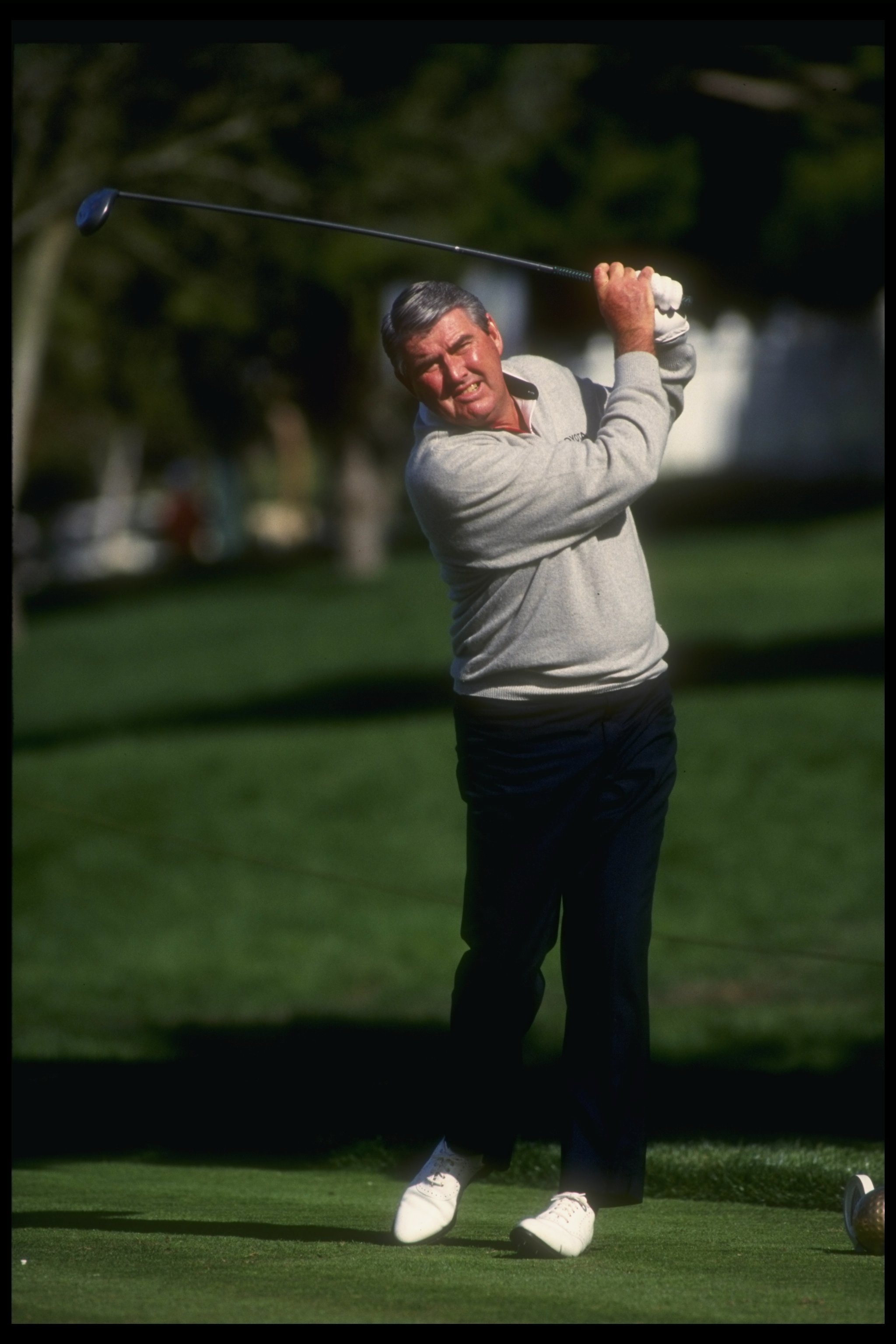 9 Jan 1992:  Charles Coody watches the ball fly during the Tournament of Champions at the La Costa Country Club. Mandatory Credit: Ken Levine  /Allsport