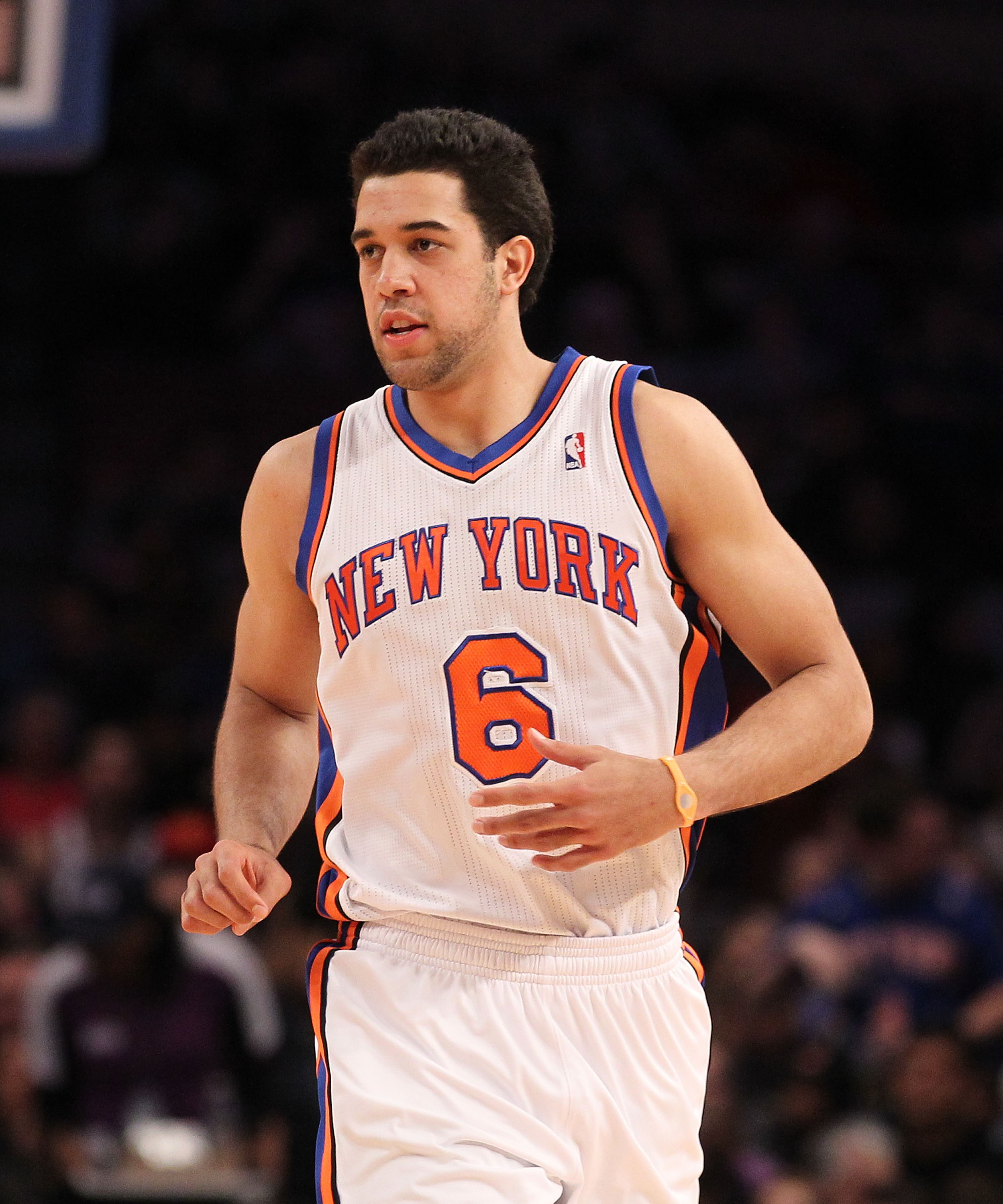 NEW YORK - DECEMBER 22:  Landry Fields #6 of the New York Knicks in action against the Oklahoma City Thunder at Madison Square Garden on December 22, 2010 in New York, New York.   NOTE TO USER: User expressly acknowledges and agrees that, by downloading a