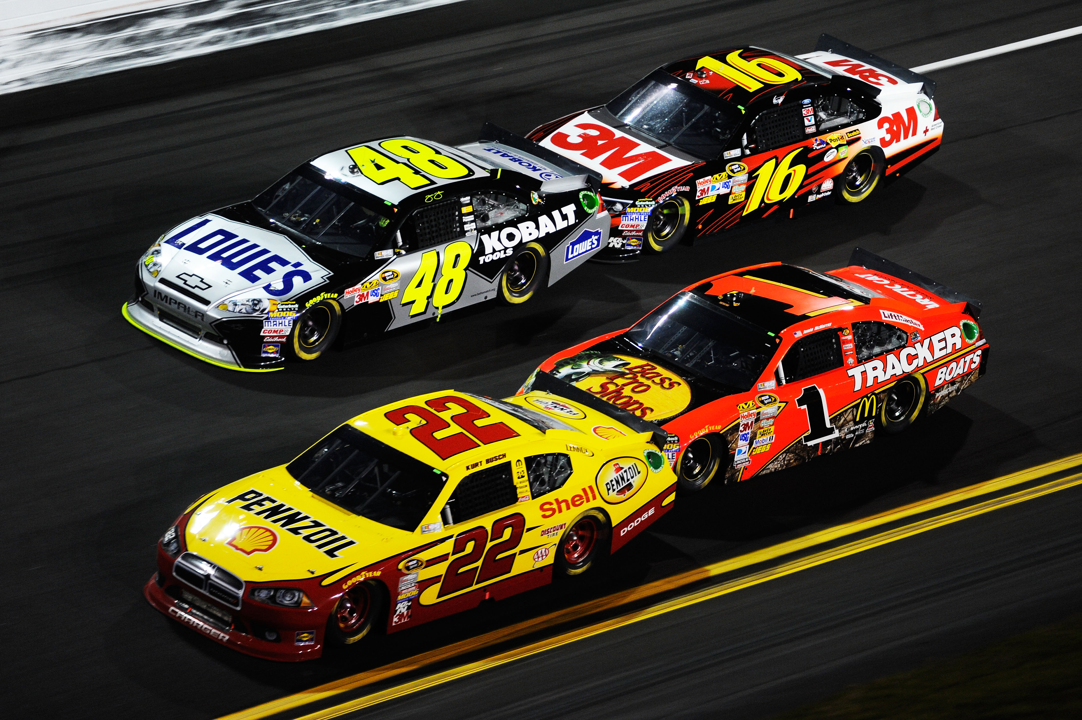 Greg Biffle looked comfortable in the two car breakaways.