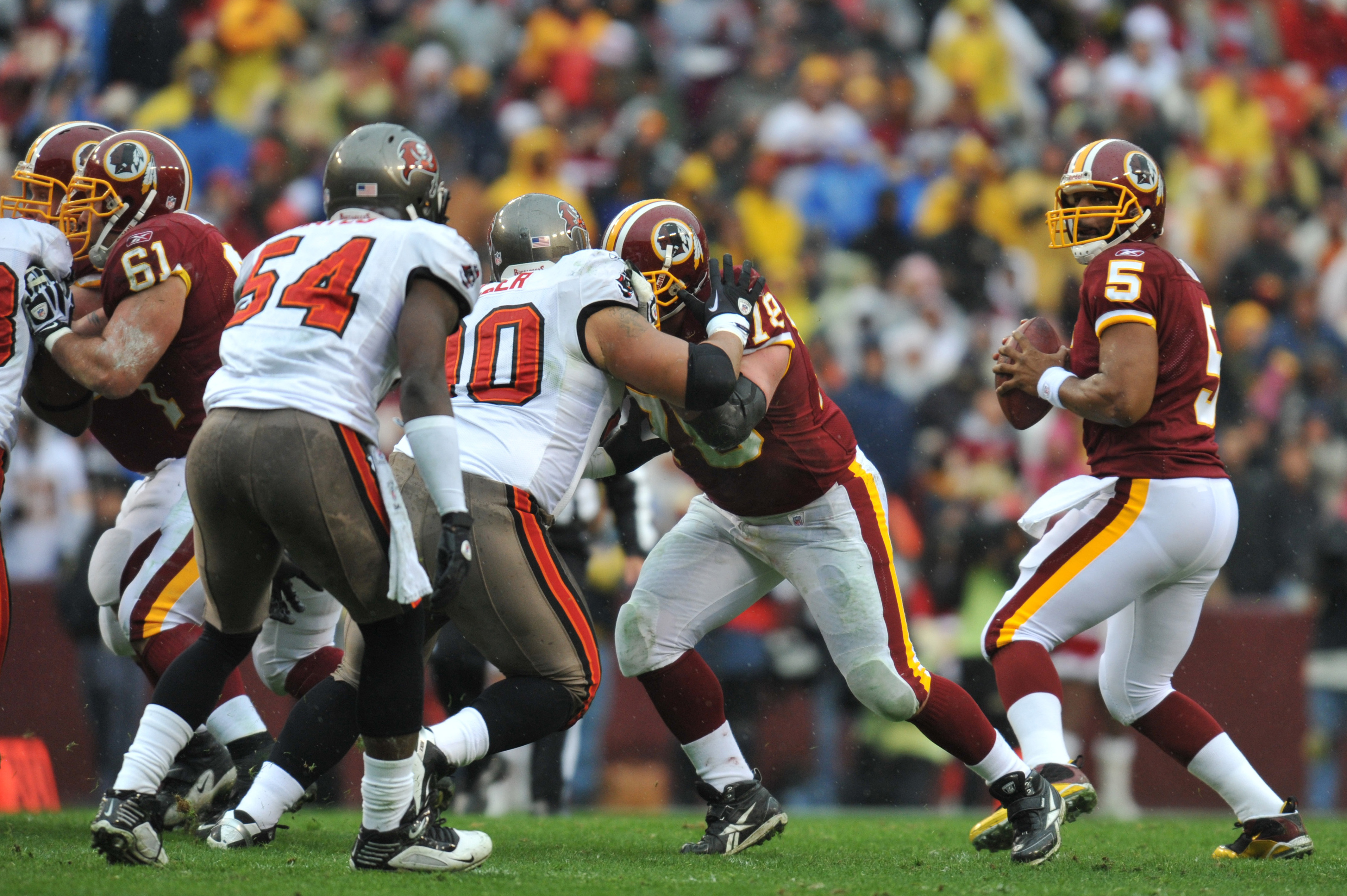 Donovan McNabb with the Washington Redskins