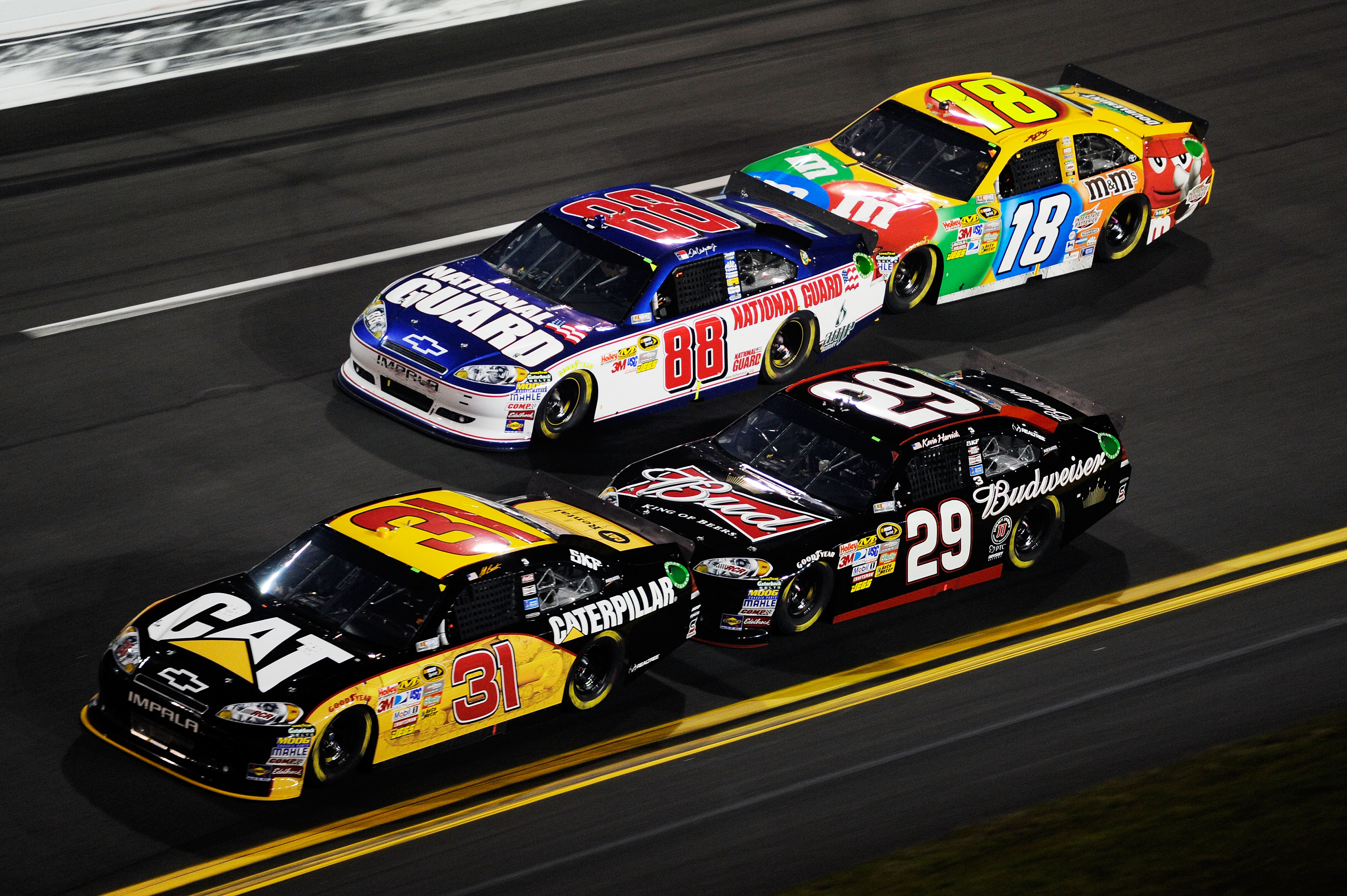 Jeff Burton has three RCR teammates that are strong restrictor plate racers.